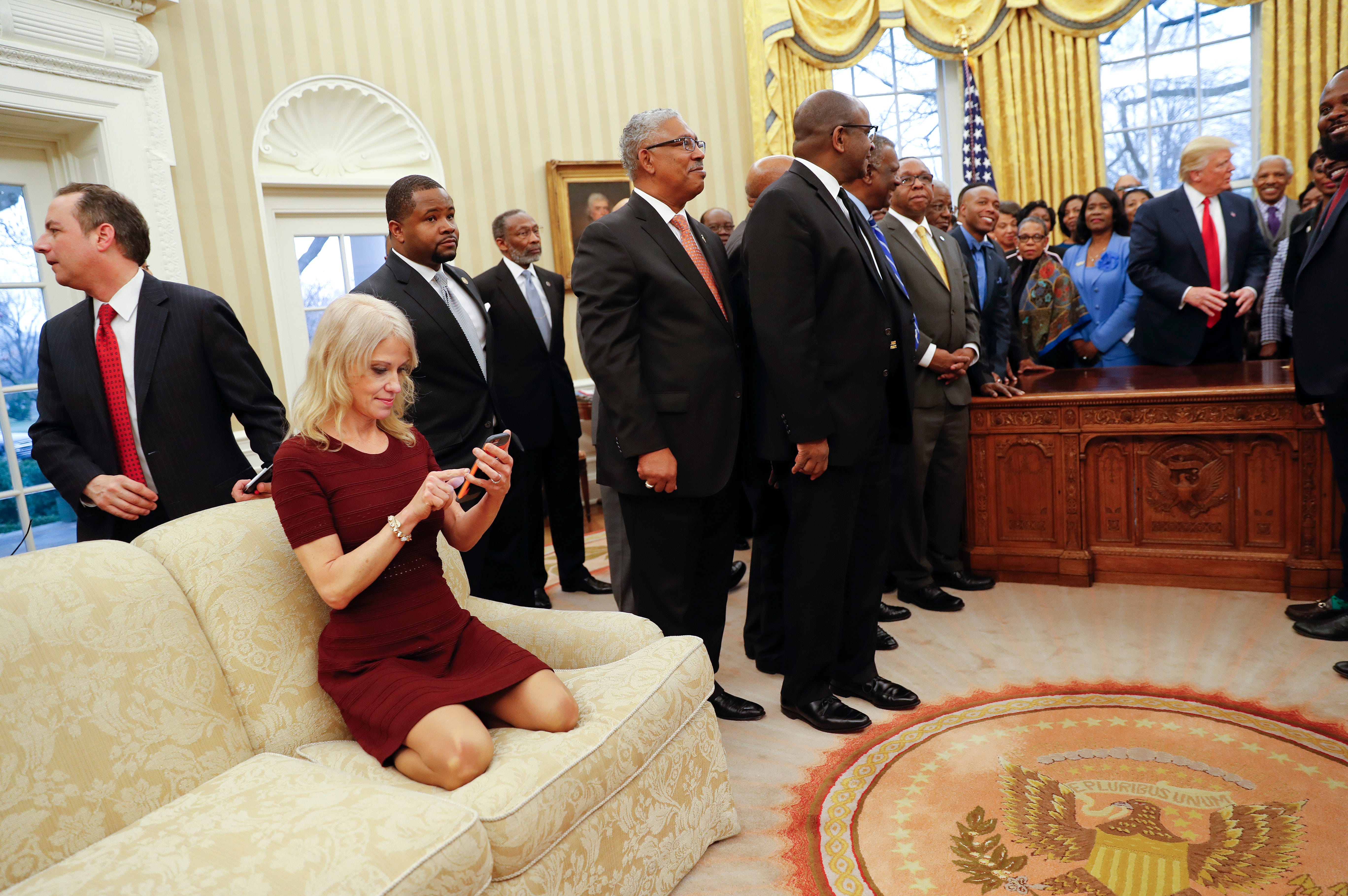 Kellyanne Conway: 'I didn't mean to have my feet on the couch'