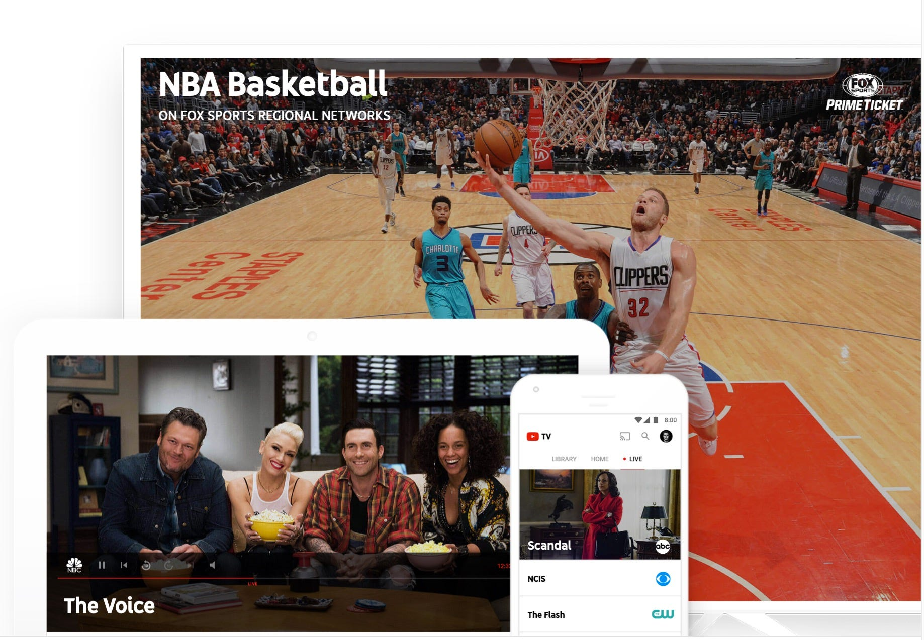 How YouTube TV compares to rivals Sling, PlayStation, DirecTV
