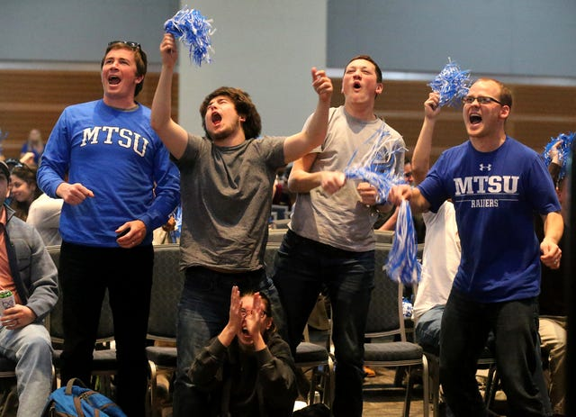 Photos Middle Tennessee Watch Parties For Ncaa 1st Game Vs Minnesota At weekends he plays with his friends. www dnj com