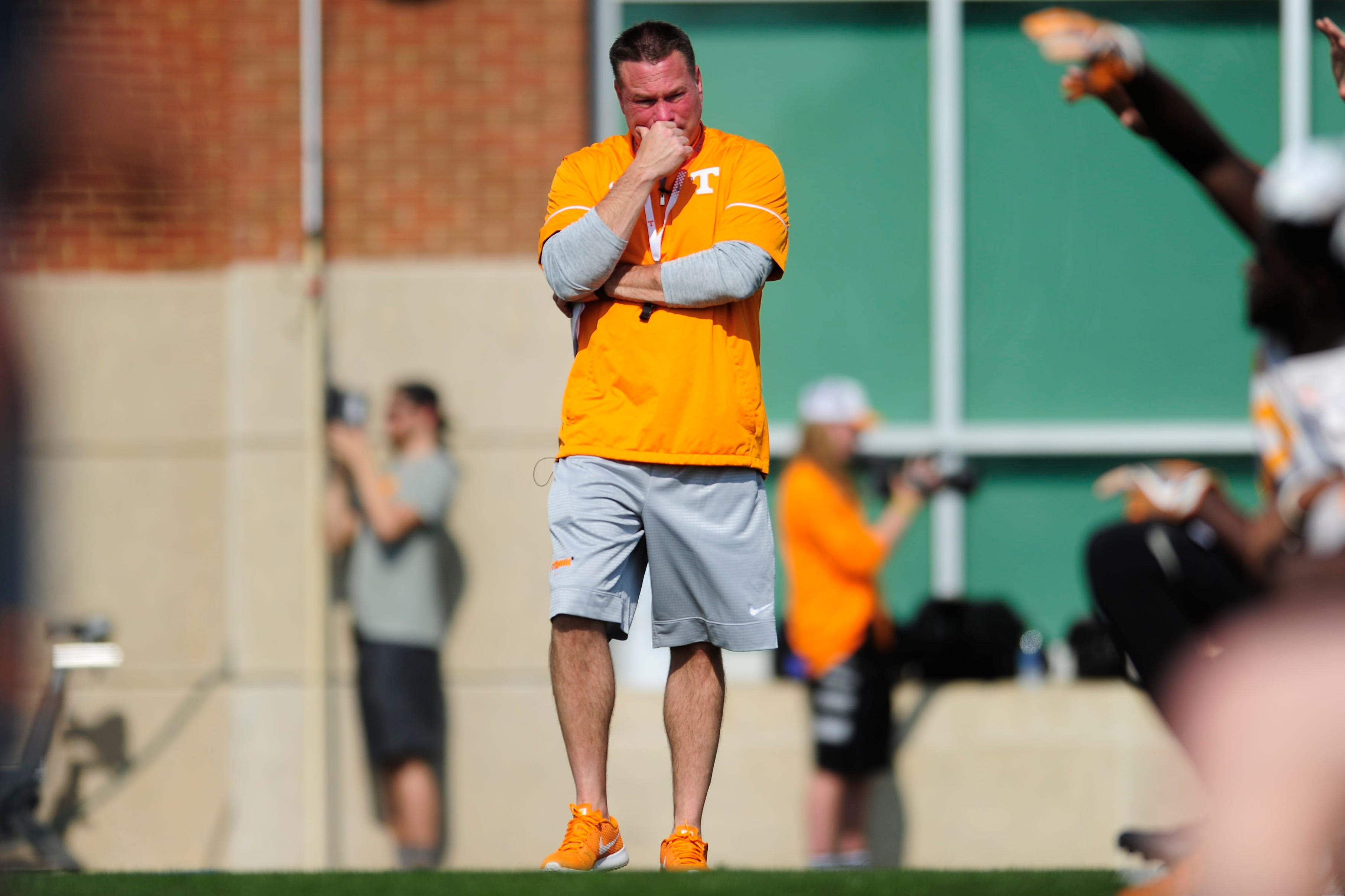 Butch Jones turns down the volume at Tennessee football's first practice