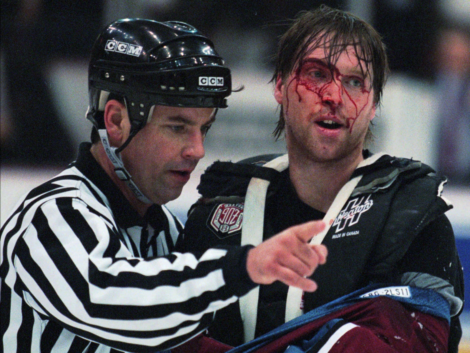 March 26, 1997: All 9 fights between the Avalanche and Red Wings