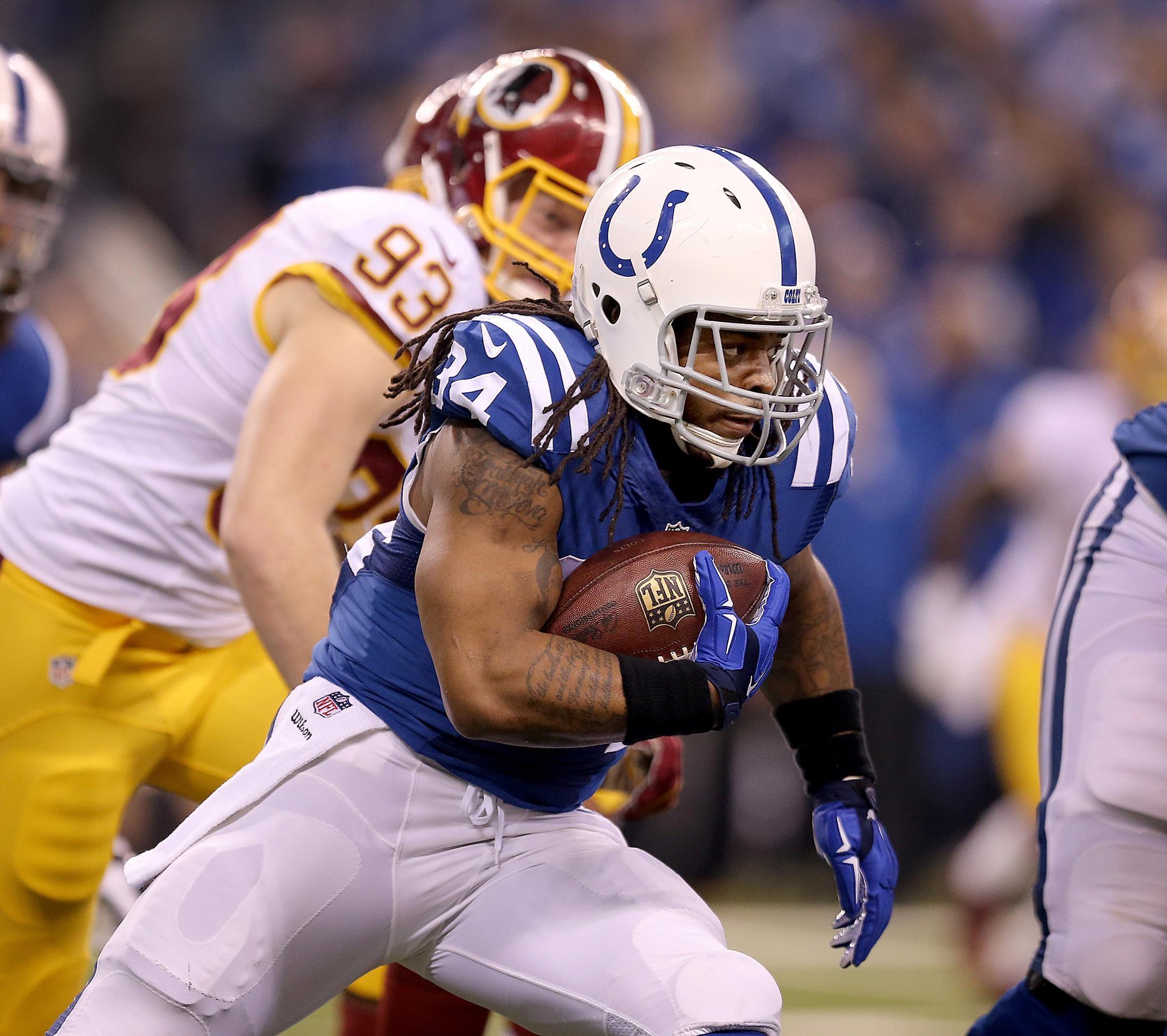 Former Colts running back Trent Richardson denies abuse