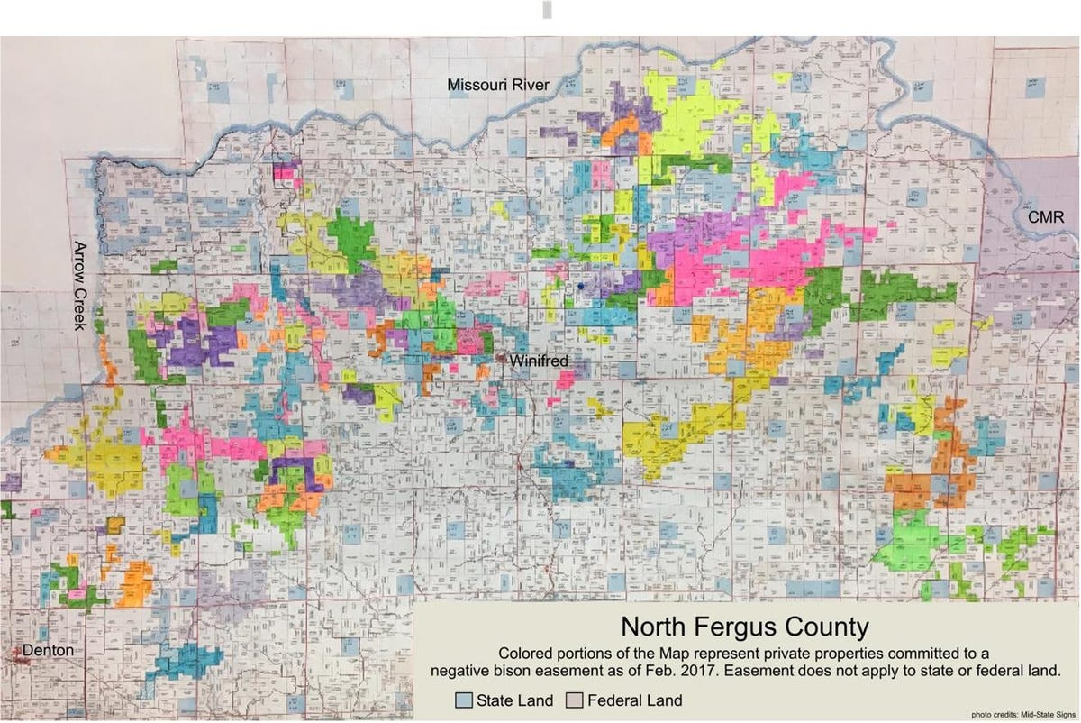 Not on my property:' Central Montana ranchers say no to bison Fergus County Montana Land Ownership Maps on