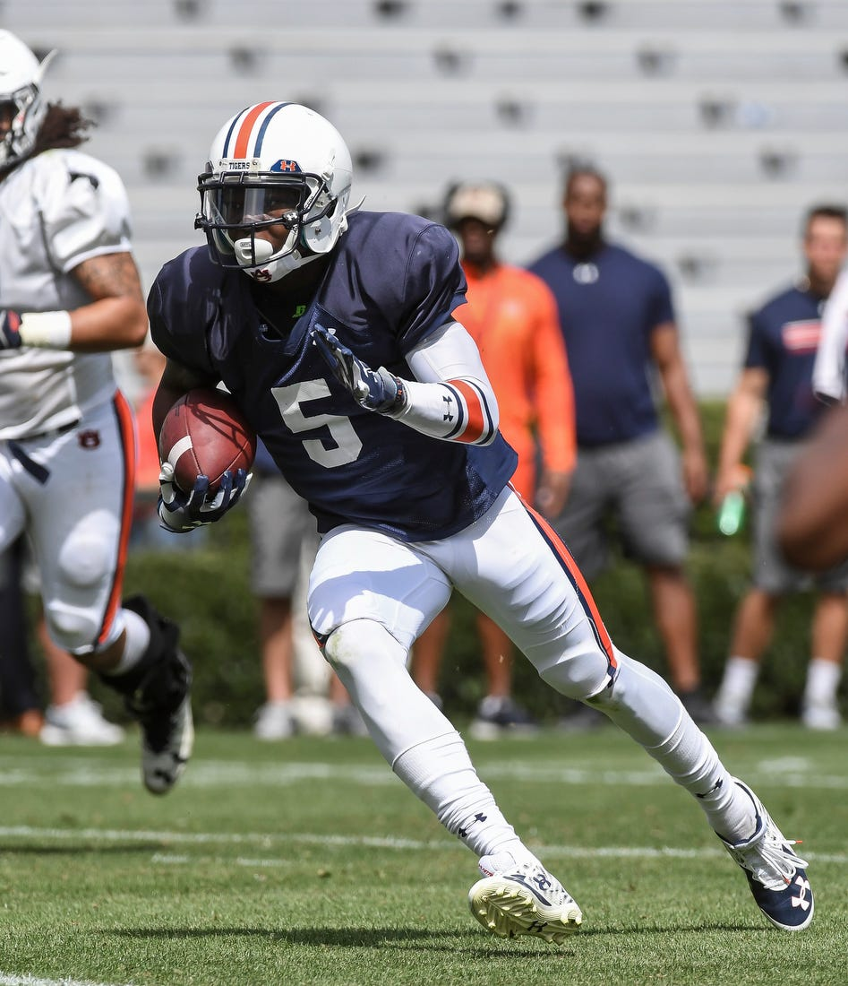 John Franklin III catches a TD pass in Saturday's scrimmage