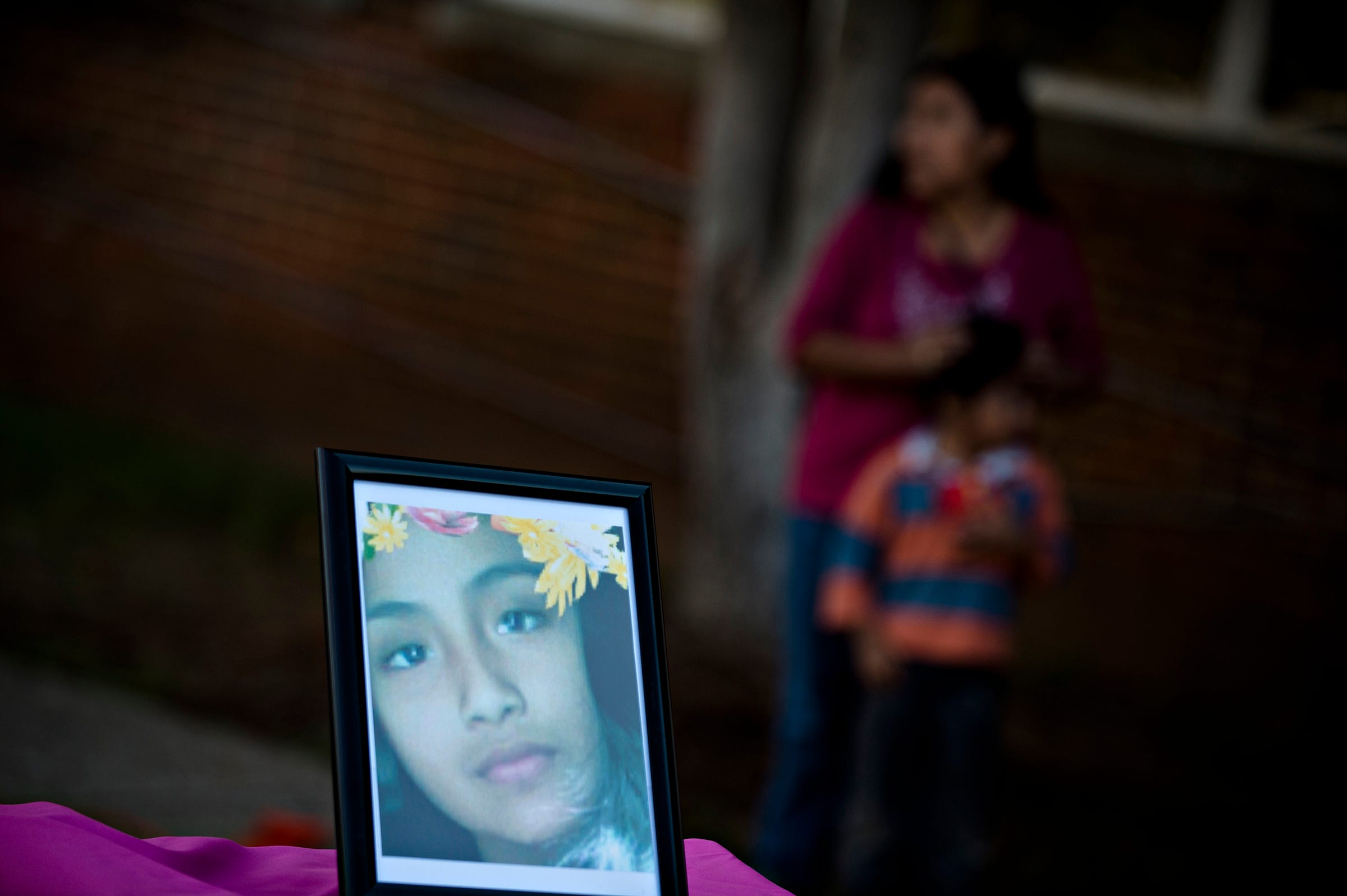 A picture of shooting victim Maribel Rosales Barrera during a tree dedication ceremony for Maribel Rosales Barrera on Friday, March 31, 2017, at Capitol Heights Middle School in Montgomery, Ala. Maribel Rosales Barrera, 13, was shot and died on Park Avenue March 23, 2017. Barrera was a student at Capitol Heights Middle School.