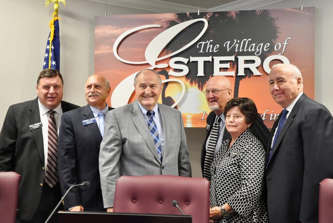 Estero's Village Council chose Councilor Jim Boesch as its new mayor. Councilor Bill Ribble will serve as the vice mayor. (Not pictured Councilor Don Brown.)