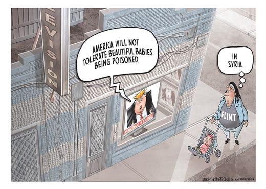 Trump draws the line in Syria.
