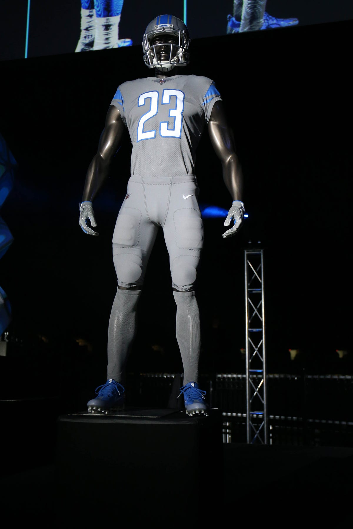 on sale 35f45 5b7e9 Detroit Lions to wear all 4 uniforms; gray Color Rush coming ...