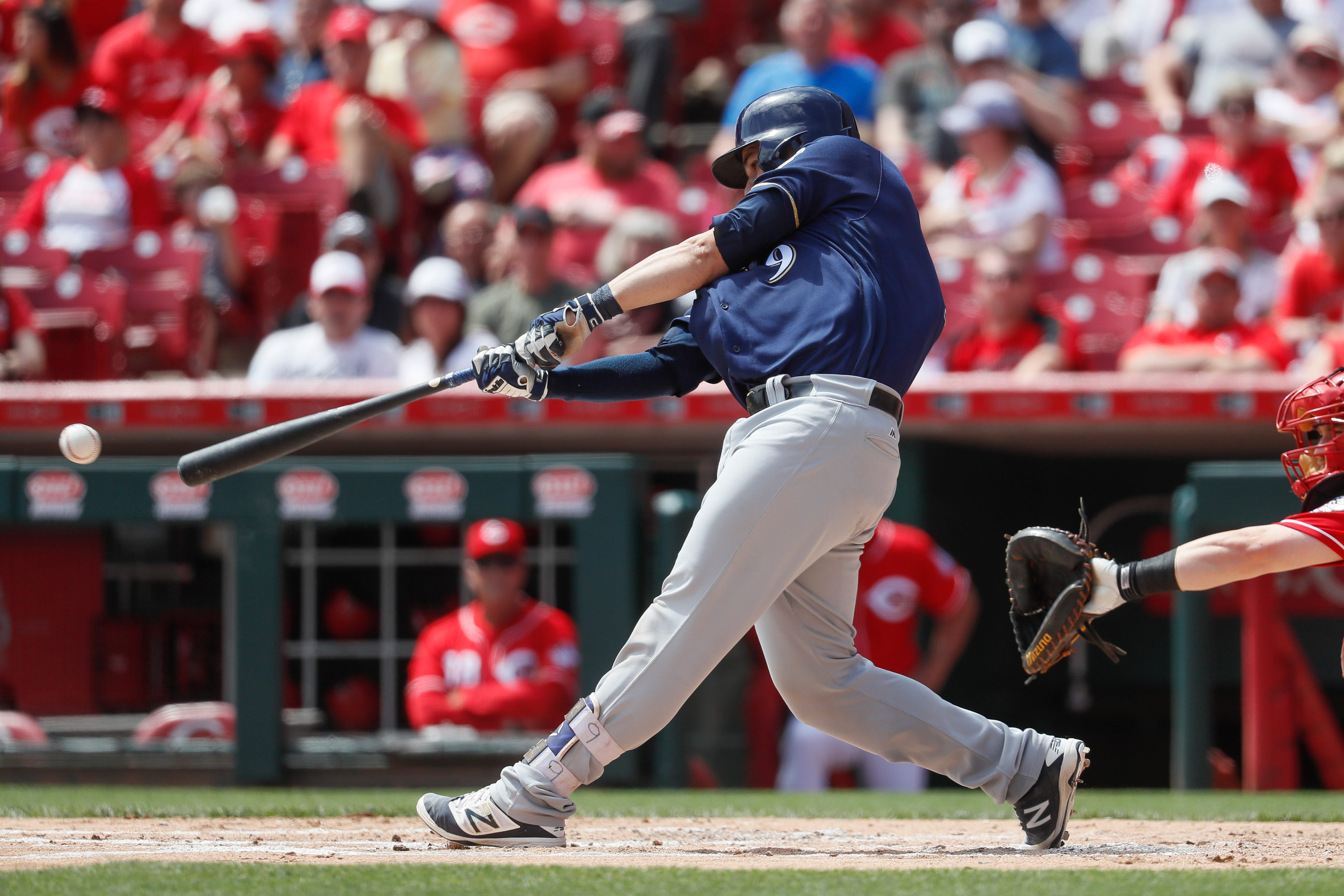 Notes: Brewers hit on successful formula at catcher