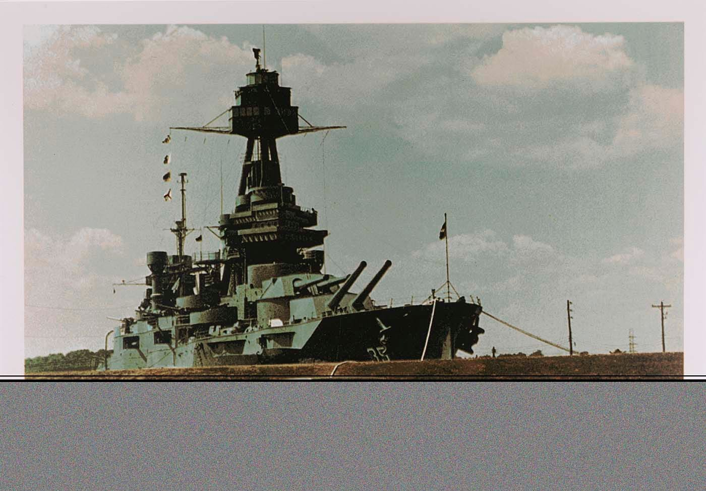 """""""Battleship Texas"""" is a work by Tom Blackwell donated to The Smithsonian."""