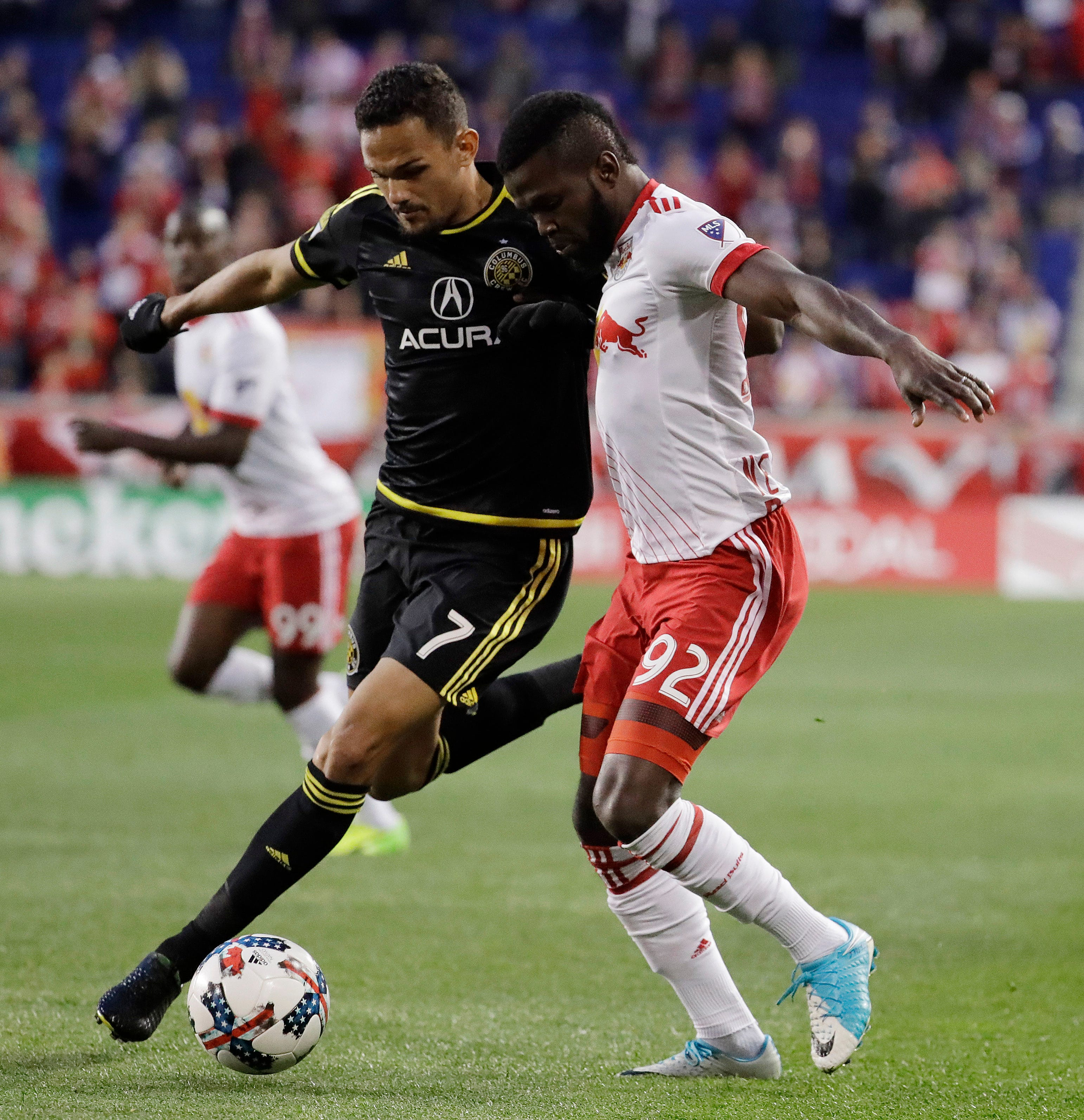 Robles has 4th shutout as Red Bulls top Crew 2-0