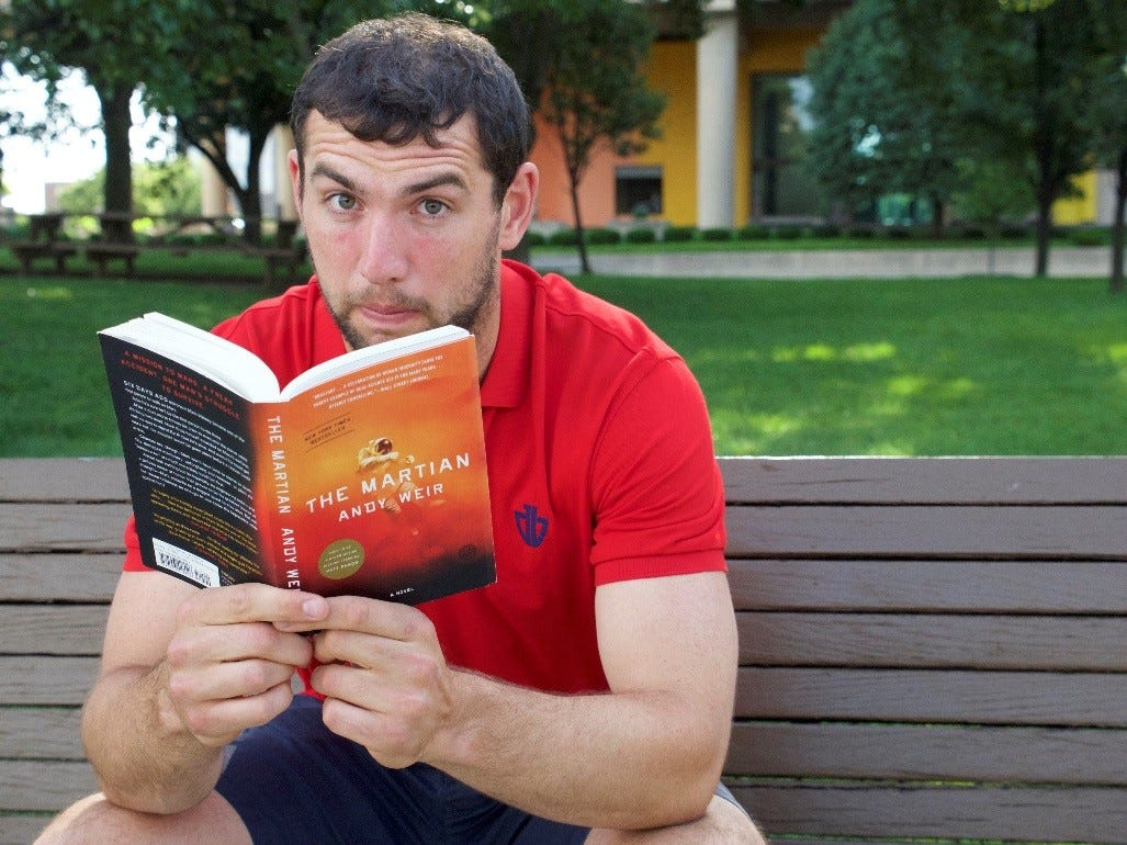 What is Andrew Luck reading? Find out as Colts QB takes his book club to WFYI