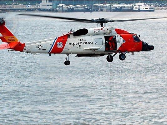 A Coast Guard MH-60 Jayhawk helicopter medevaced a passenger from a cruise ship near Virginia Beach.