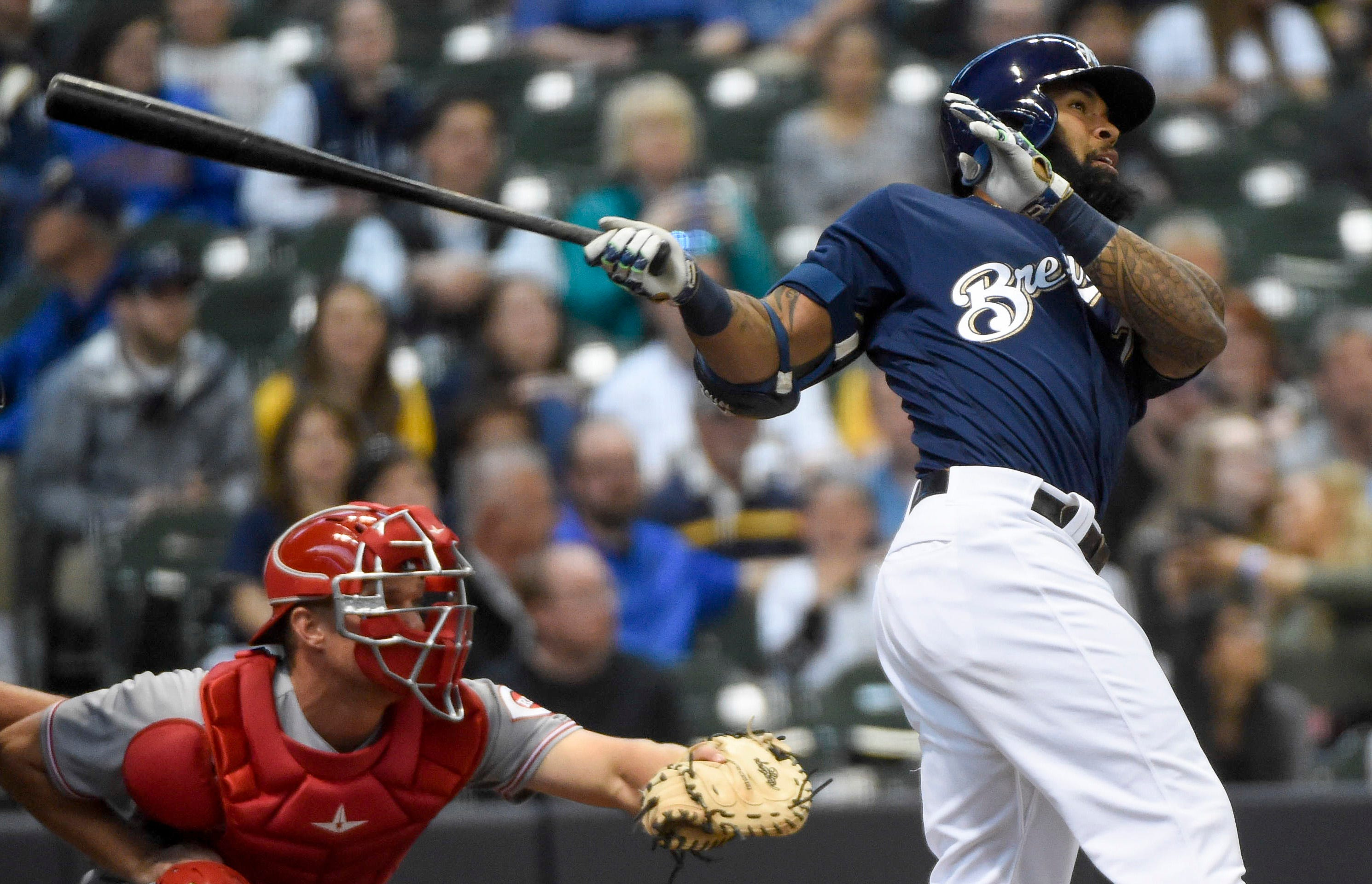 Brewers' Eric Thames a 'destroyer' against Reds