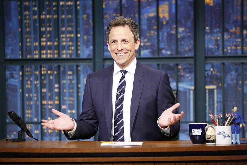 Seth Meyers: 'For every Trump action, there's an equal and opposite Trump clip'