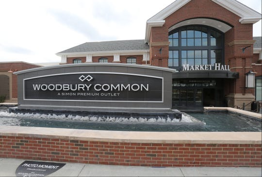 An entrance sign for Woodbury Common is pictured in this file photo.