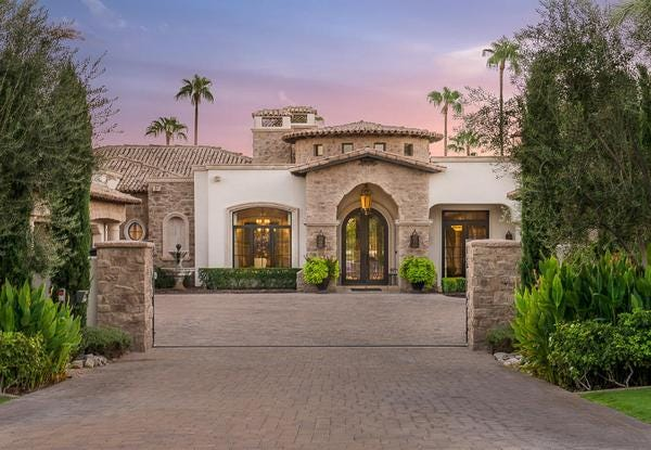 Luxury Homes 3 8M Paradise Valley Mansion Features Two