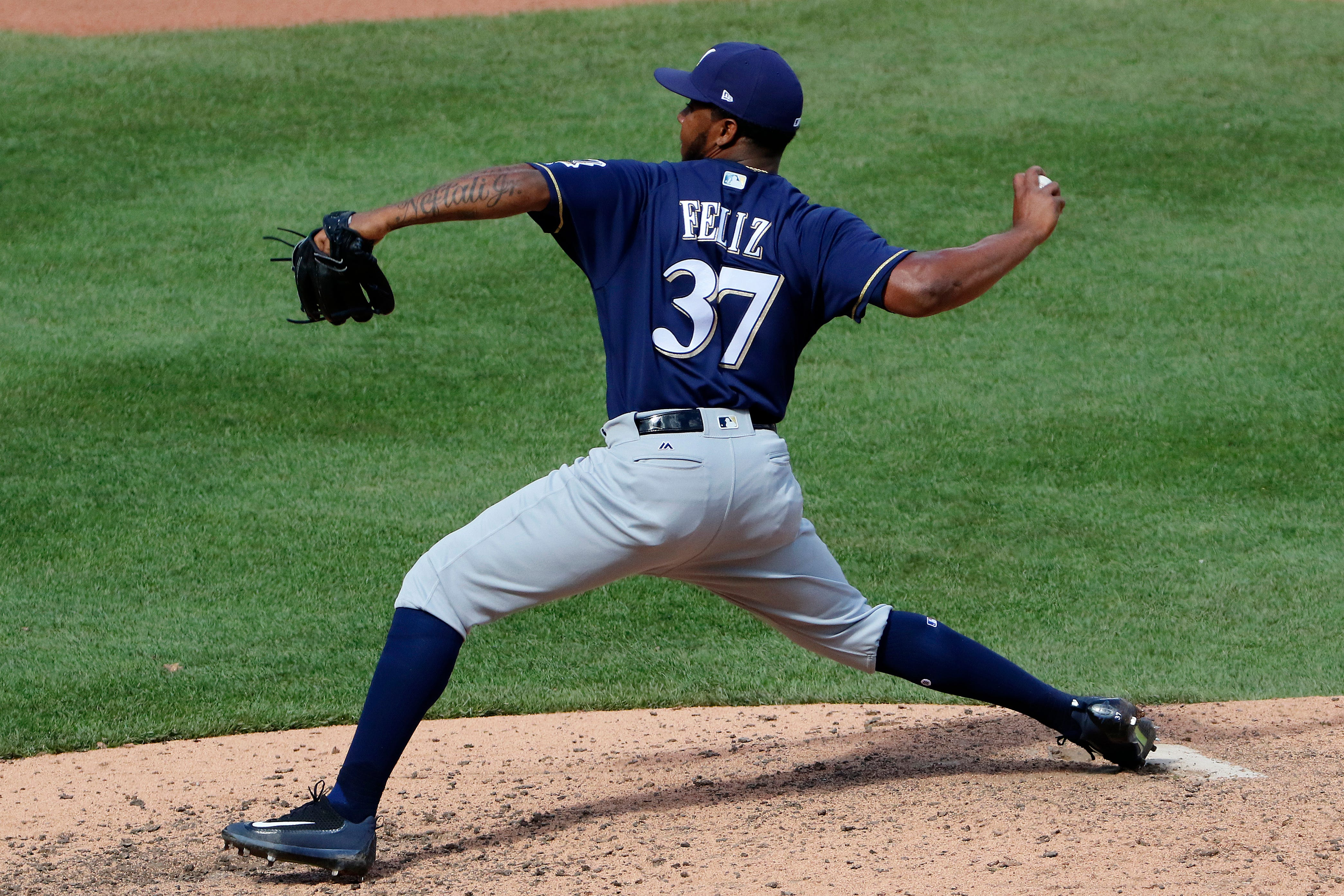 Brewers reliever Neftali Feliz made adjustment that might have put him back on track