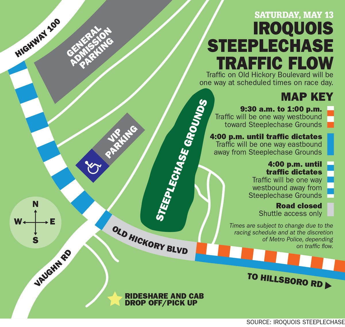 Iroquois Steeplechase to close Old Hickory Boulevard
