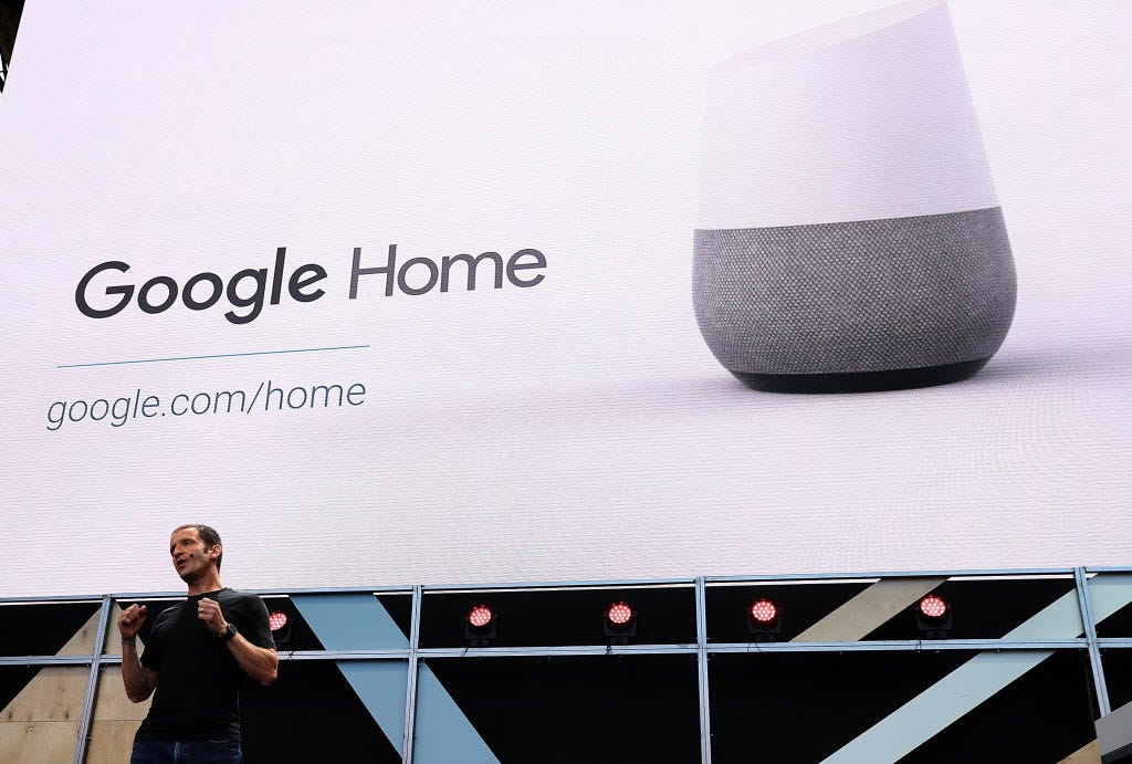 636302057248324145-GOOGLE-HOME Google Home wants to be your assistant, heating up the rivalry with Amazon Echo and soon, Apple