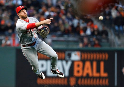 Reds' Hamilton, Cozart get days off after 17-inning marathon