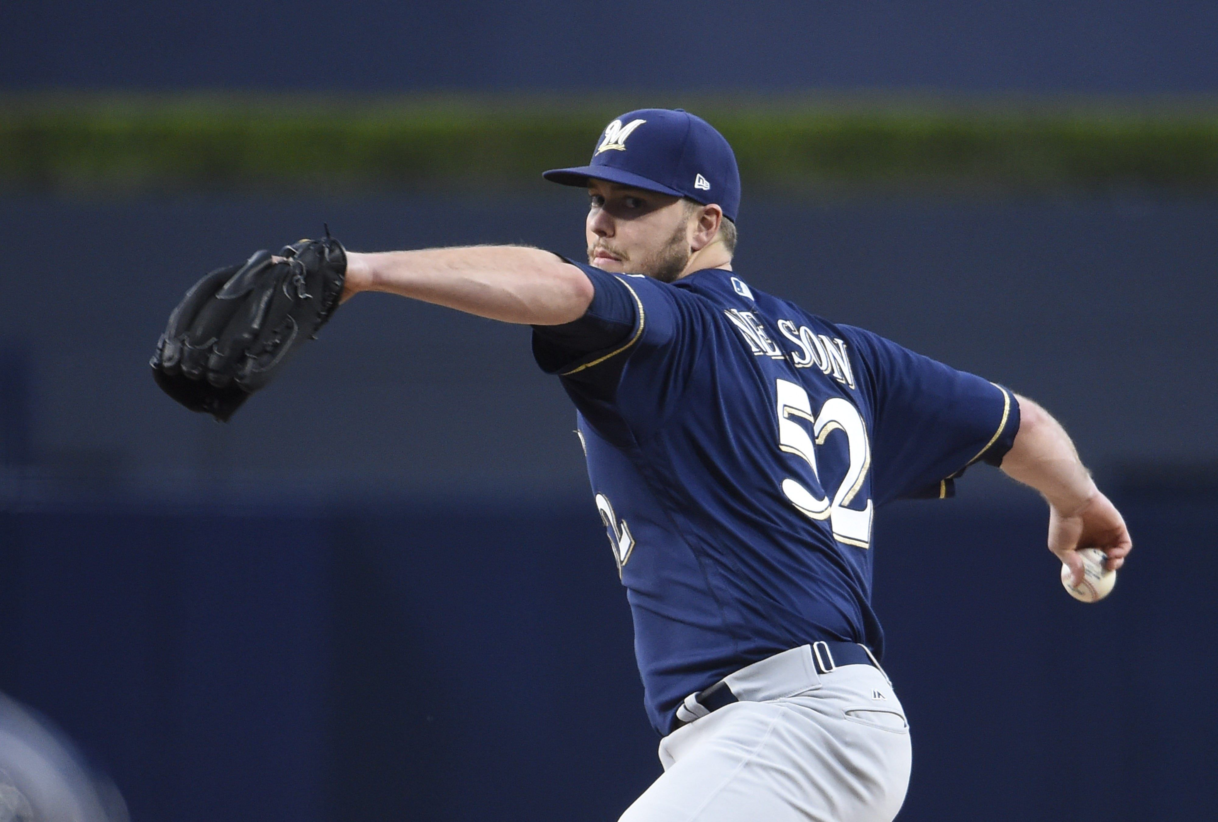 Brewers send right-hander Jimmy Nelson in opener of quick two-game series against Toronto