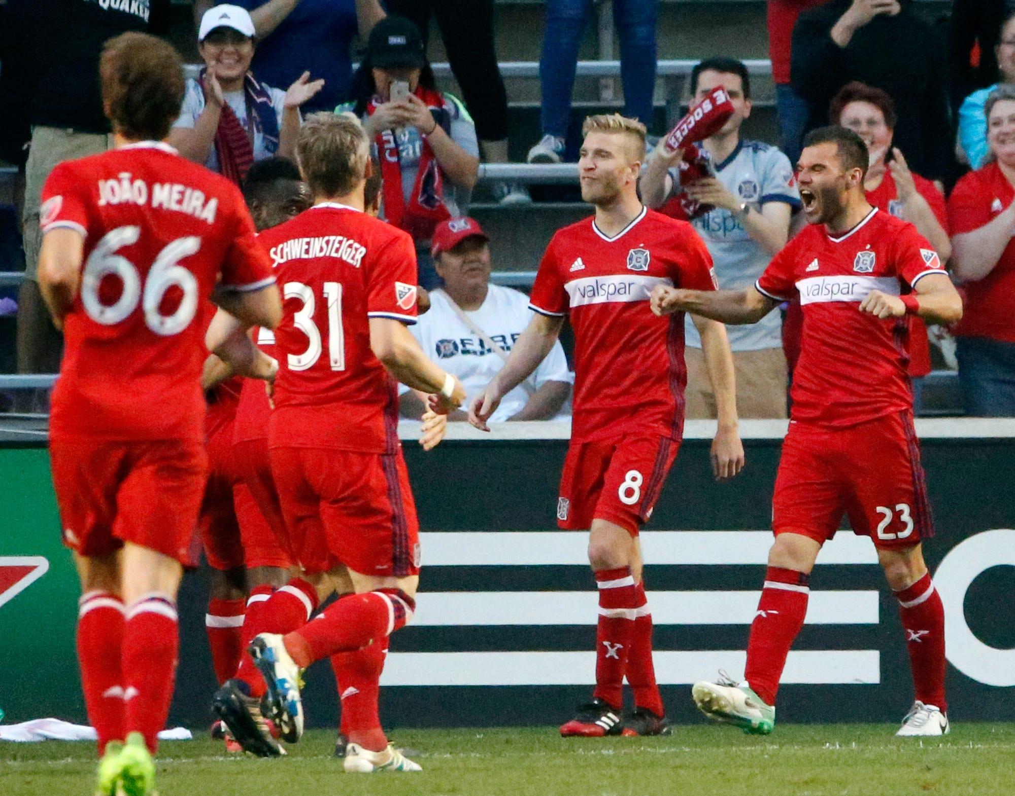 Nemanja Nikolic scores twice, Fire beat Rapids 3-0