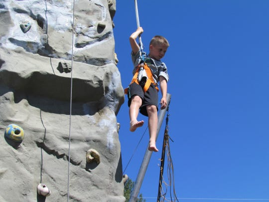 Rock climbing at Linn County Lamb & Wool Fair in Scio.