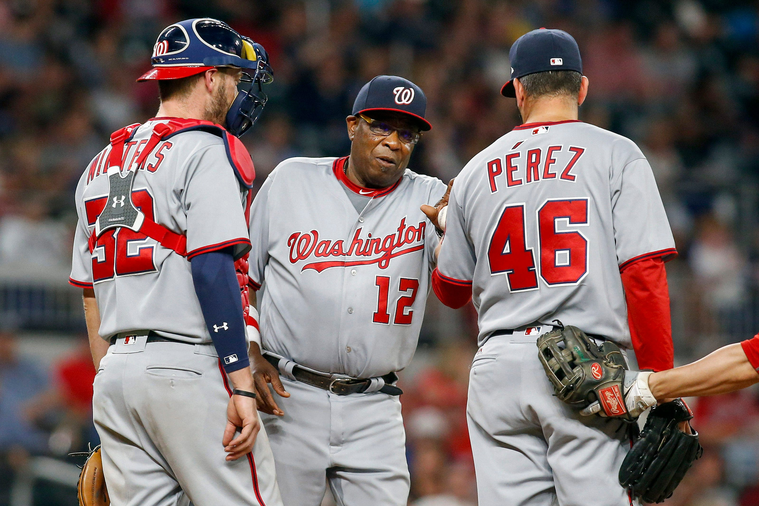 636309929831104101-USP-MLB--Washington-Nationals-at-Atlanta-Braves GM Mike Rizzo vows to fix long Nationals nightmare - their flailing bullpen