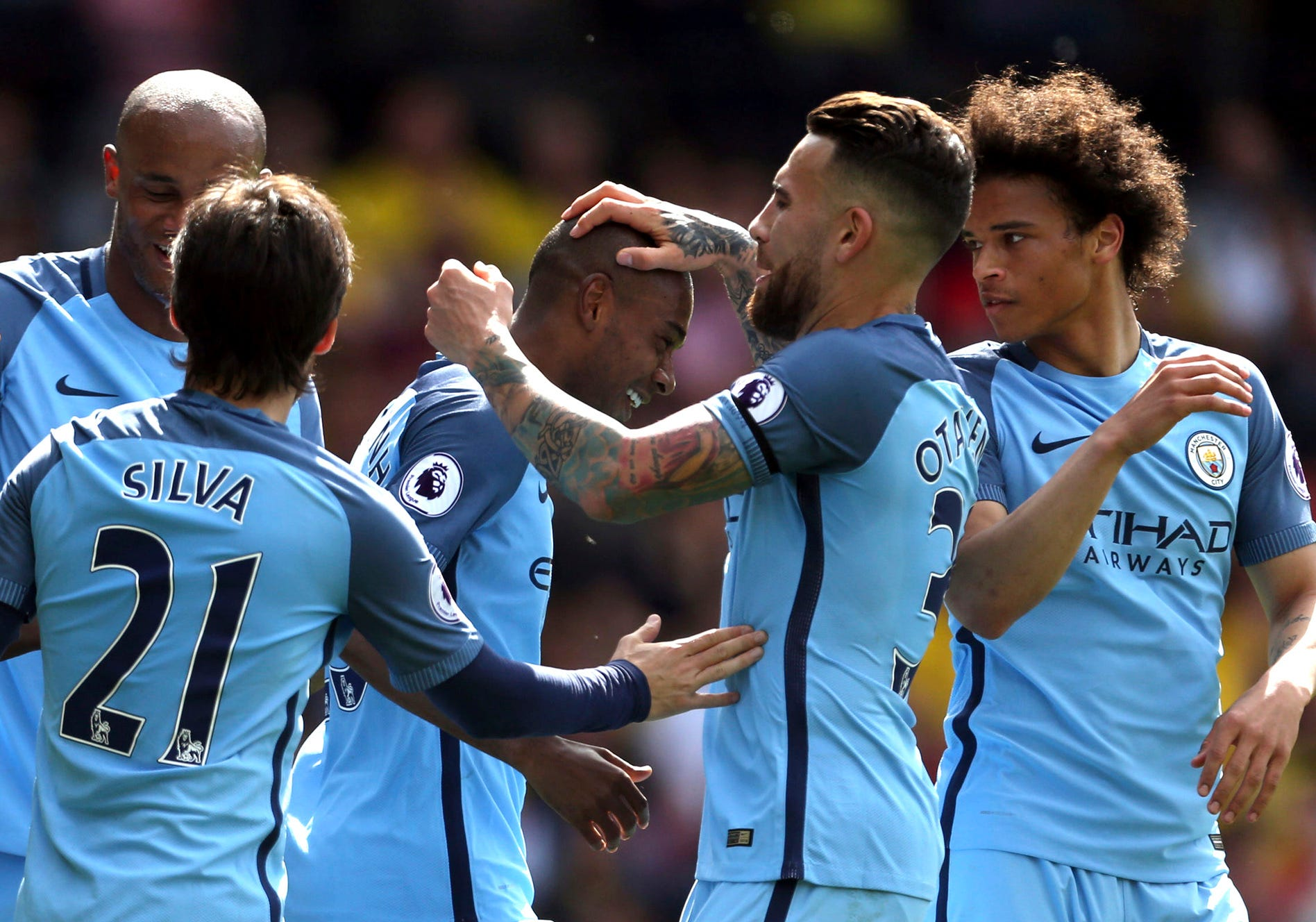Man City beats Watford 5-0, qualifies for Champions League