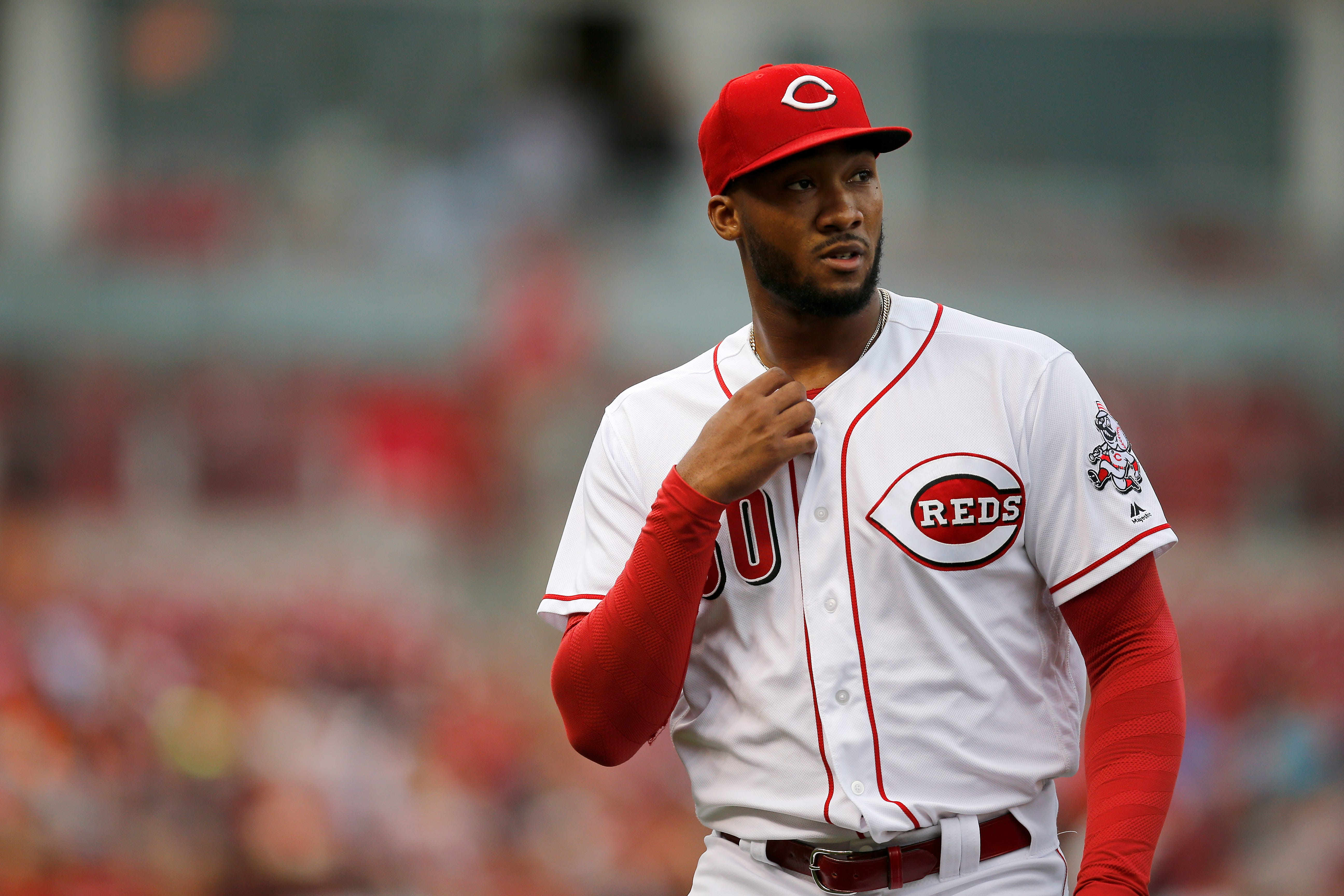 Amir Garrett to disabled list as Reds claim Jake Buchanan