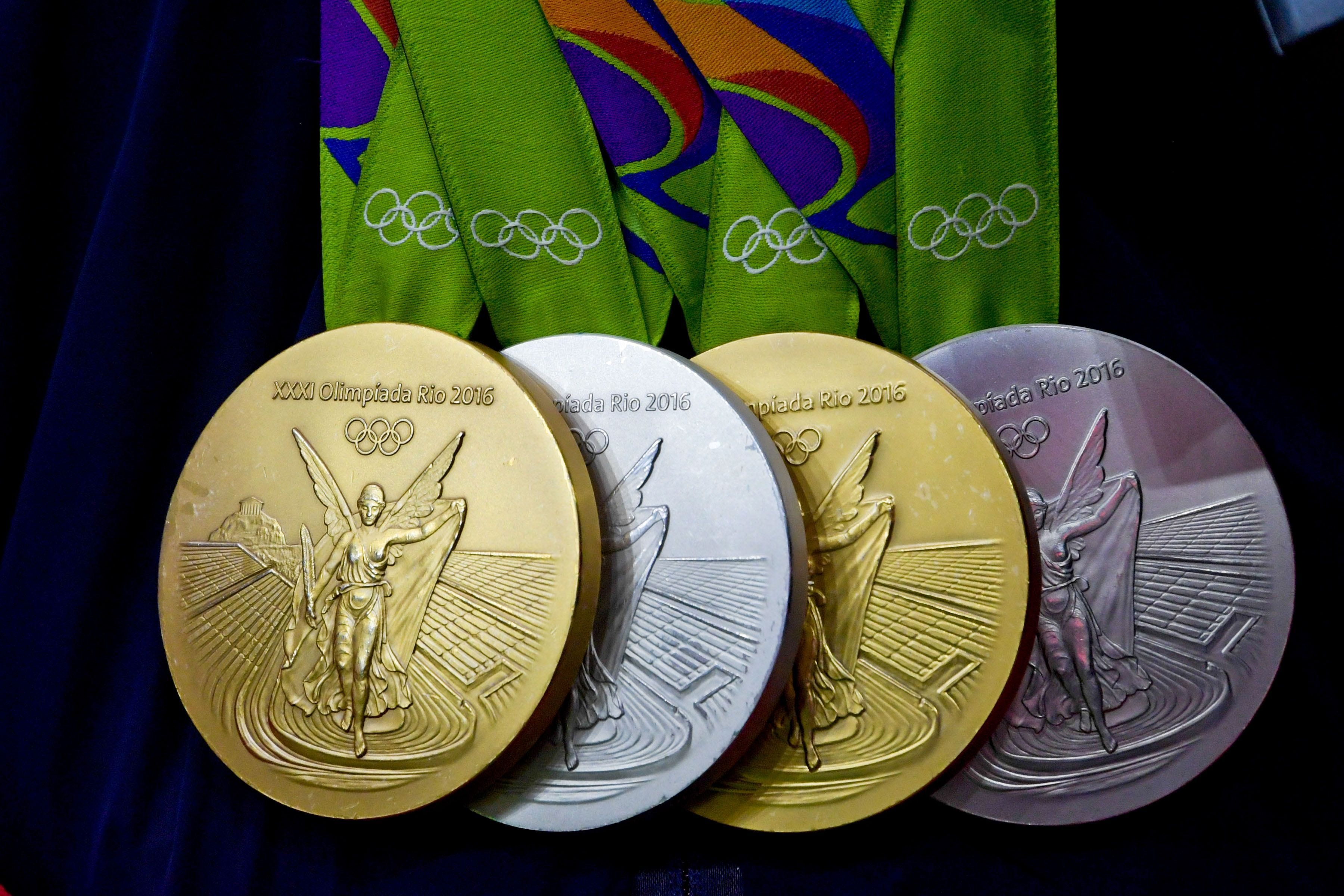 Medals from 2016 Rio Olympic Games are defective and show rusting, chipping