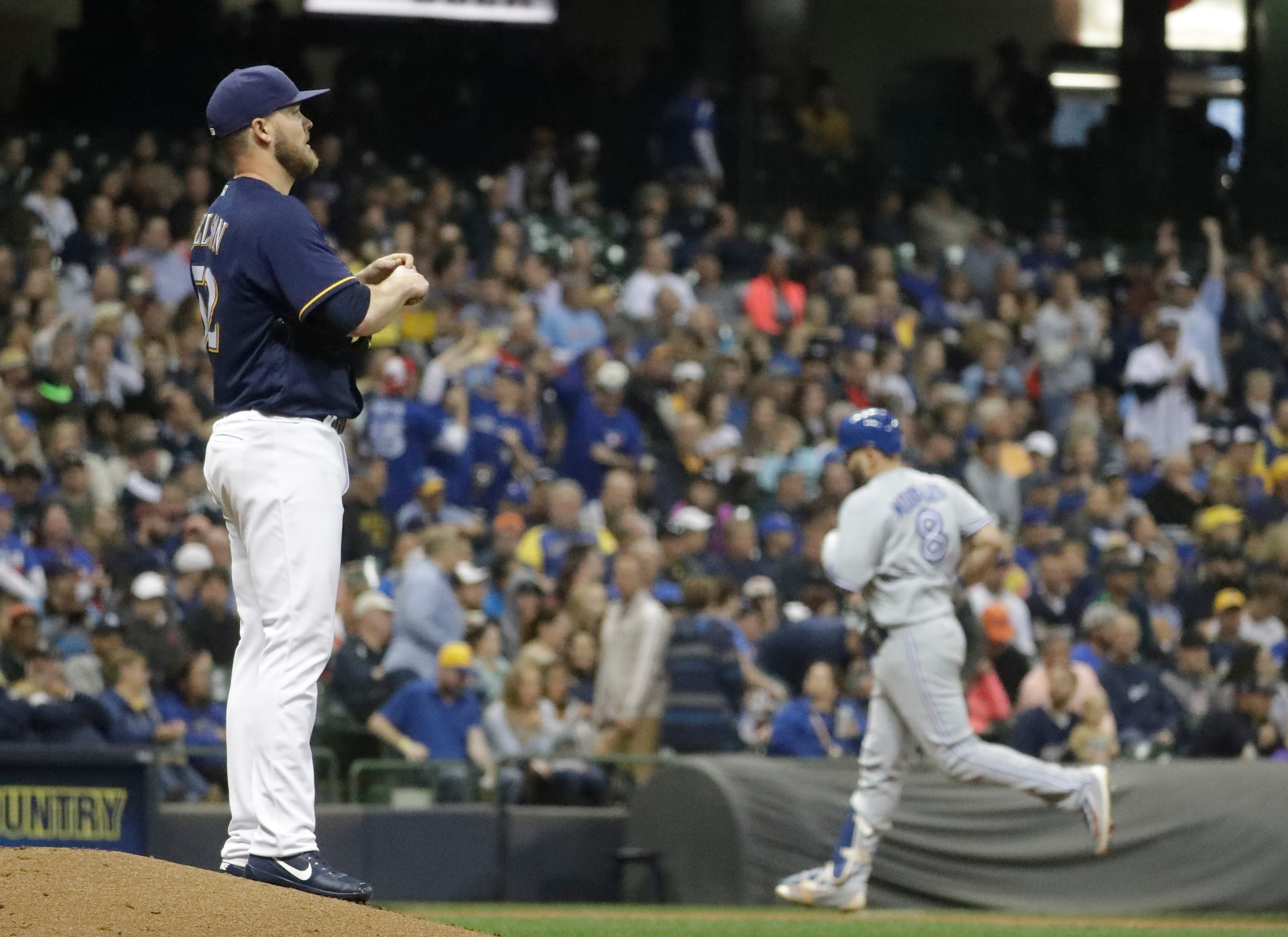 Blue Jays 4, Brewers 3: Nelson shaky again