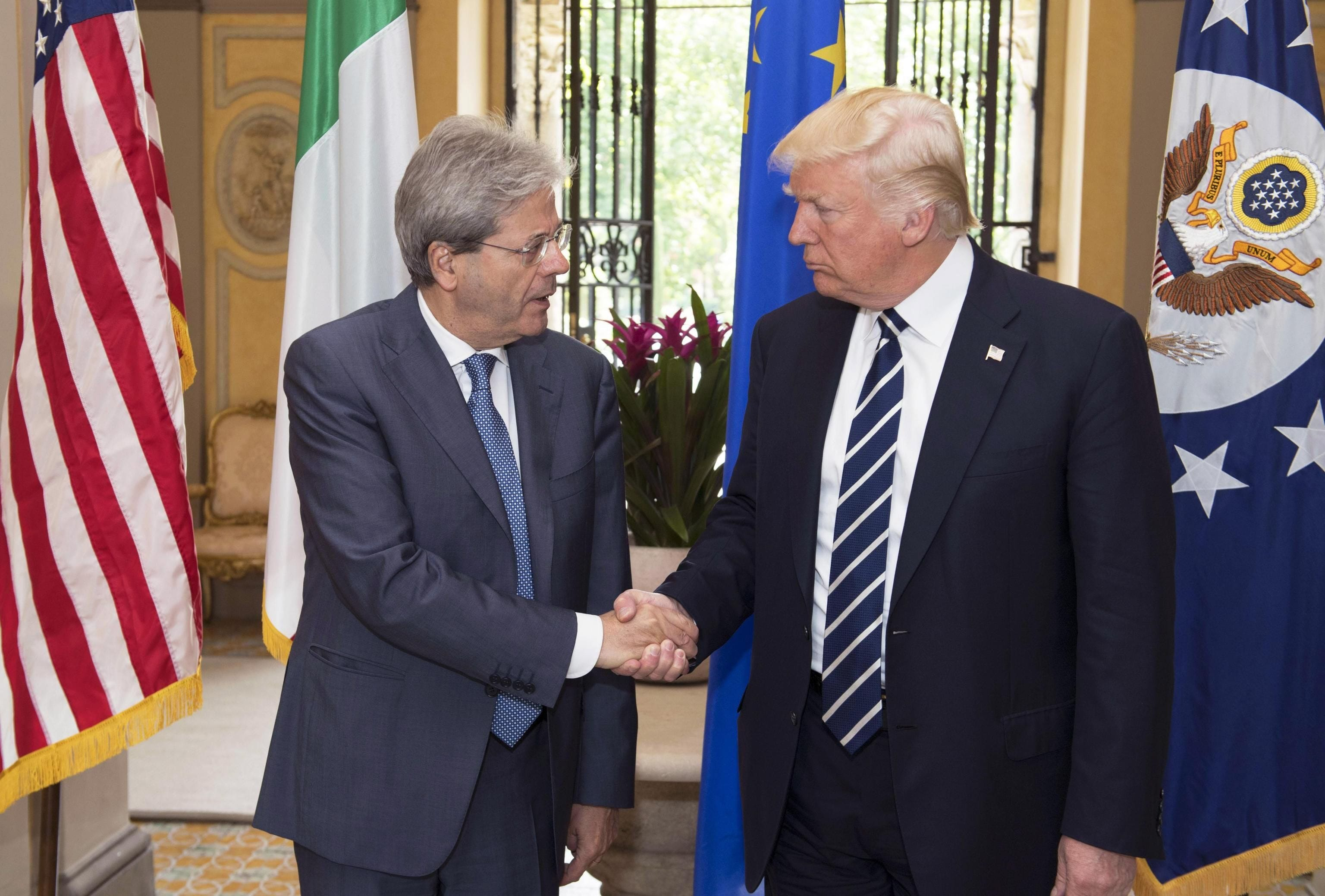 Italy's prime minister lobbies Trump to open U.S. to more migrants