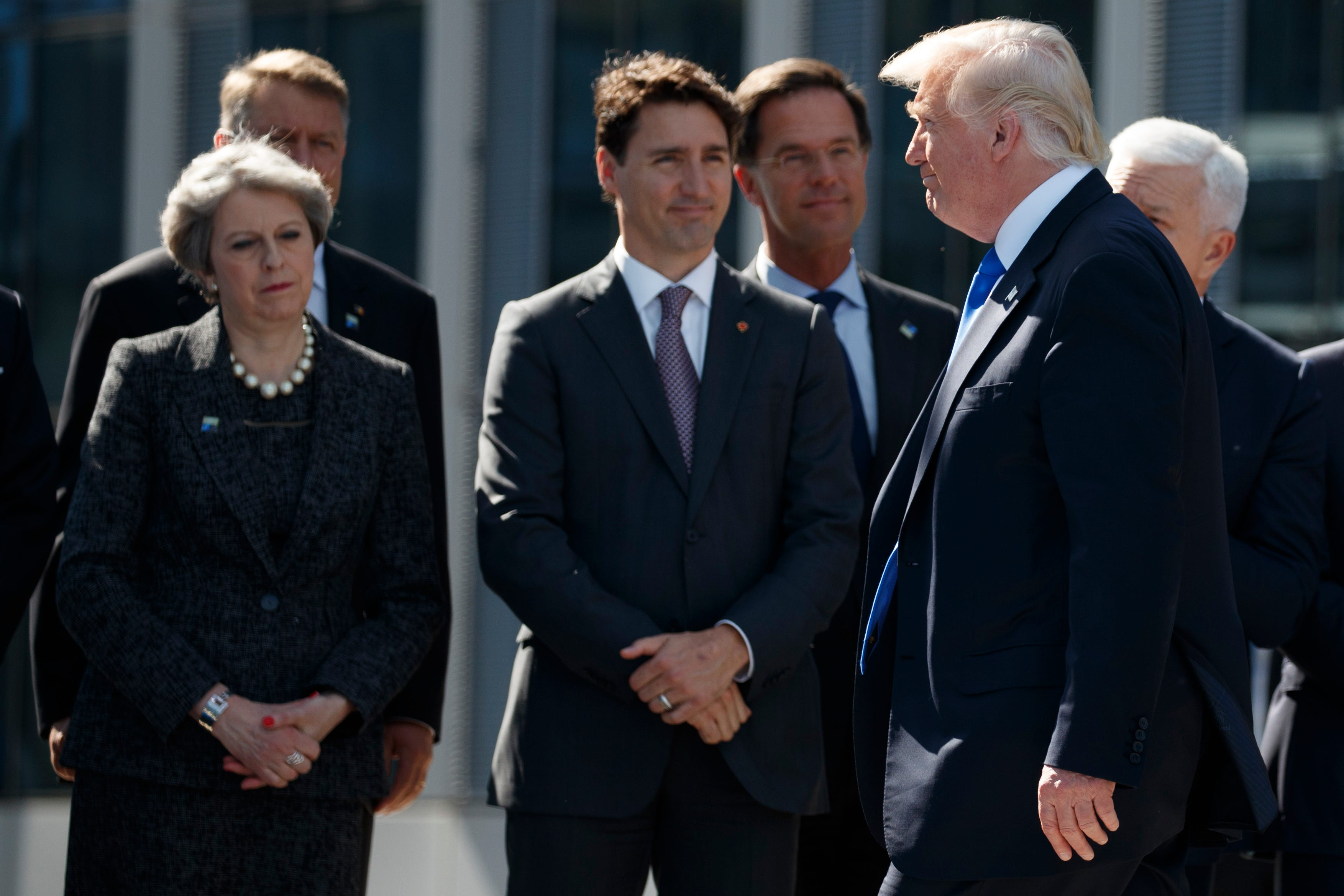 President Trump shoved the Montenegro prime minister at NATO