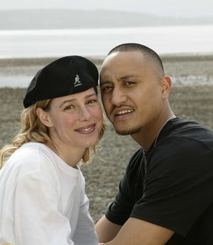 Mary Kay Letourneau and Villi Fualaau pose for a photo April 9, 2005, outside their home in the Puget Sound area of Seattle. They were married May 20, 2005, after Letourneau served a 7-1/2-year prison sentence for having sex with a minor.