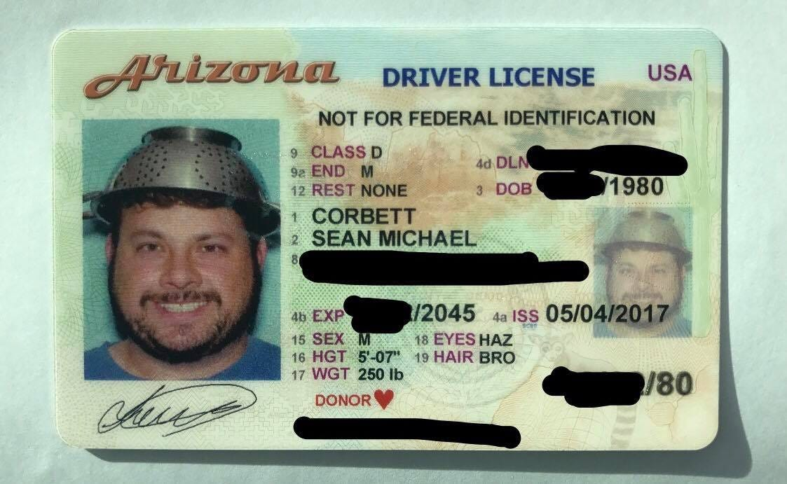 Arizona man wears colander in driver's license photo in name of religious freedom