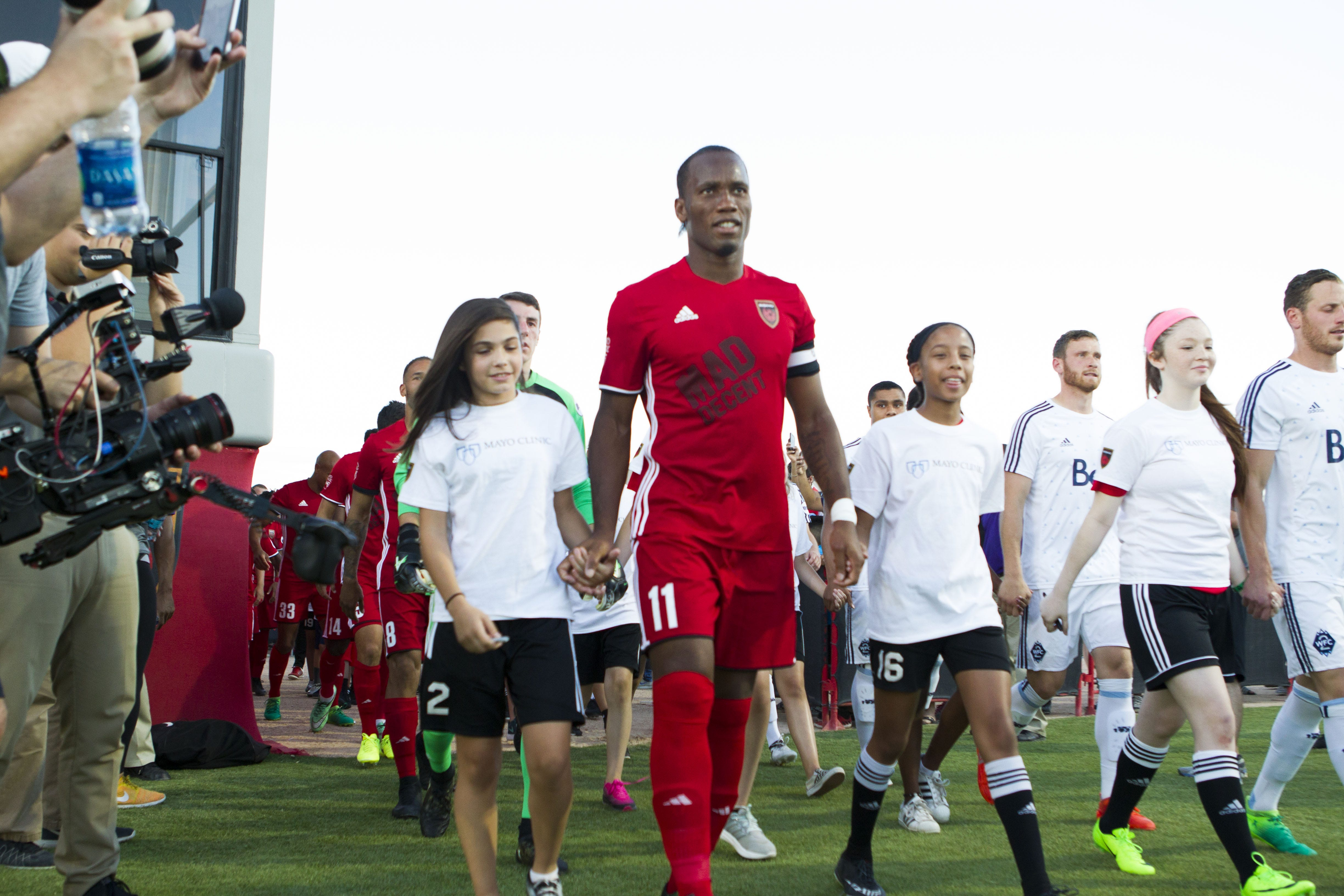 Didier Drogba creates buzz, scores in debut with Phoenix Rising FC