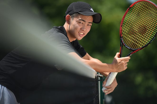 Chikaya Sato of Cresskill was the North Jersey Boys Tennis Player of the Year in 2017.