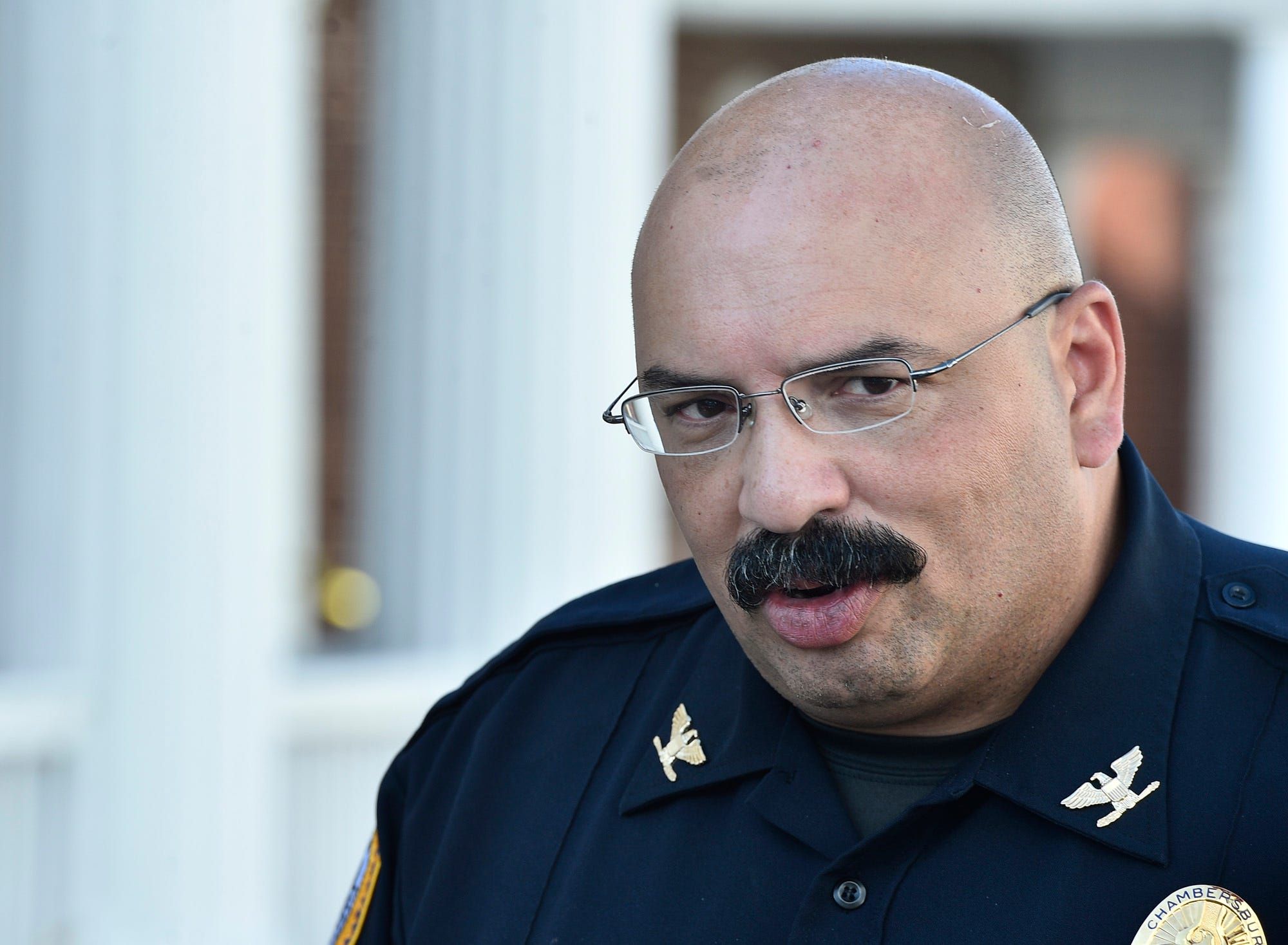 Chambersburg police Chief Ron Camacho, who is Hispanic, has made recruiting minority officers a priority.