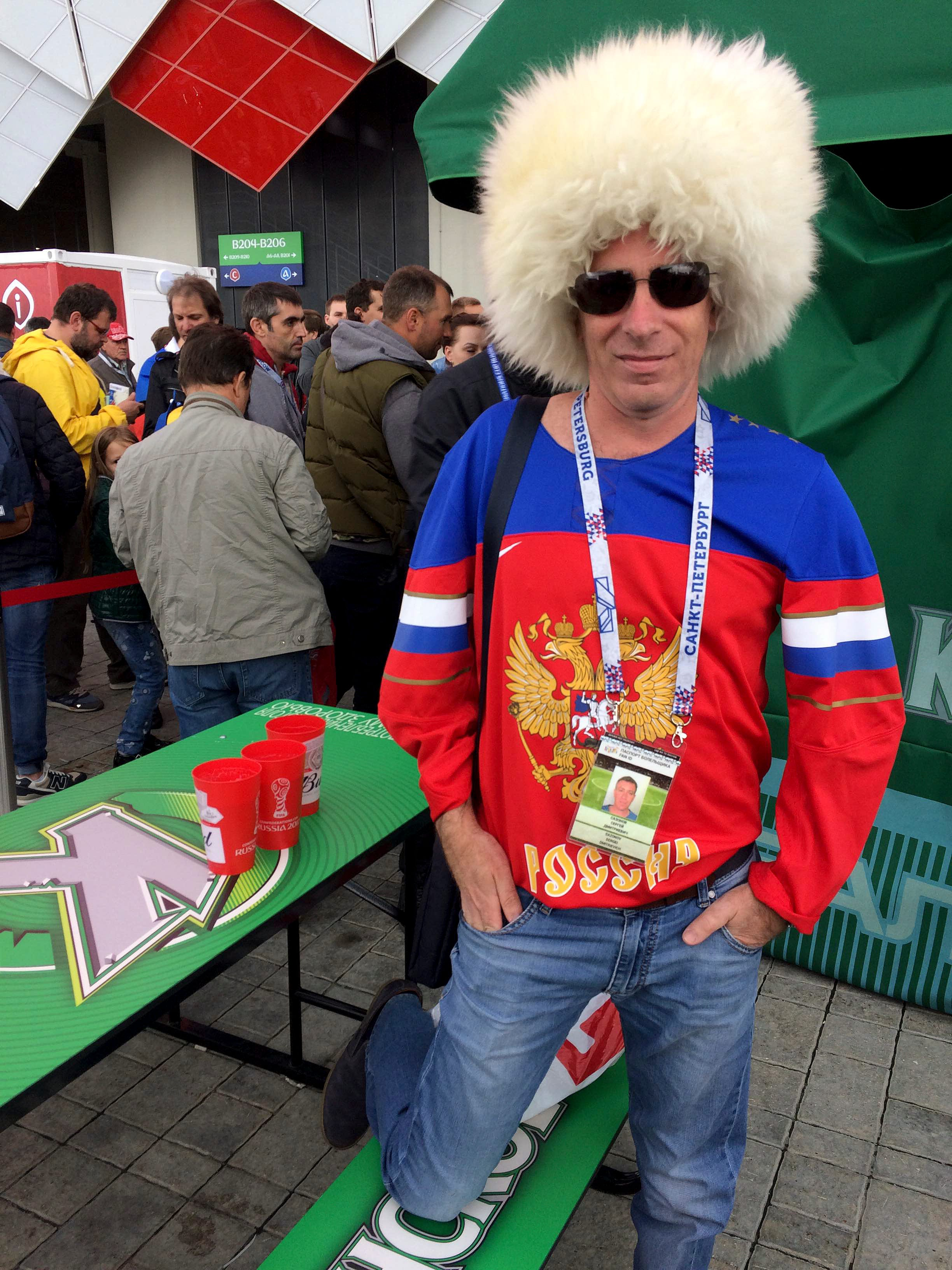 Russians hit the bar as beer ban lifted for Confed Cup