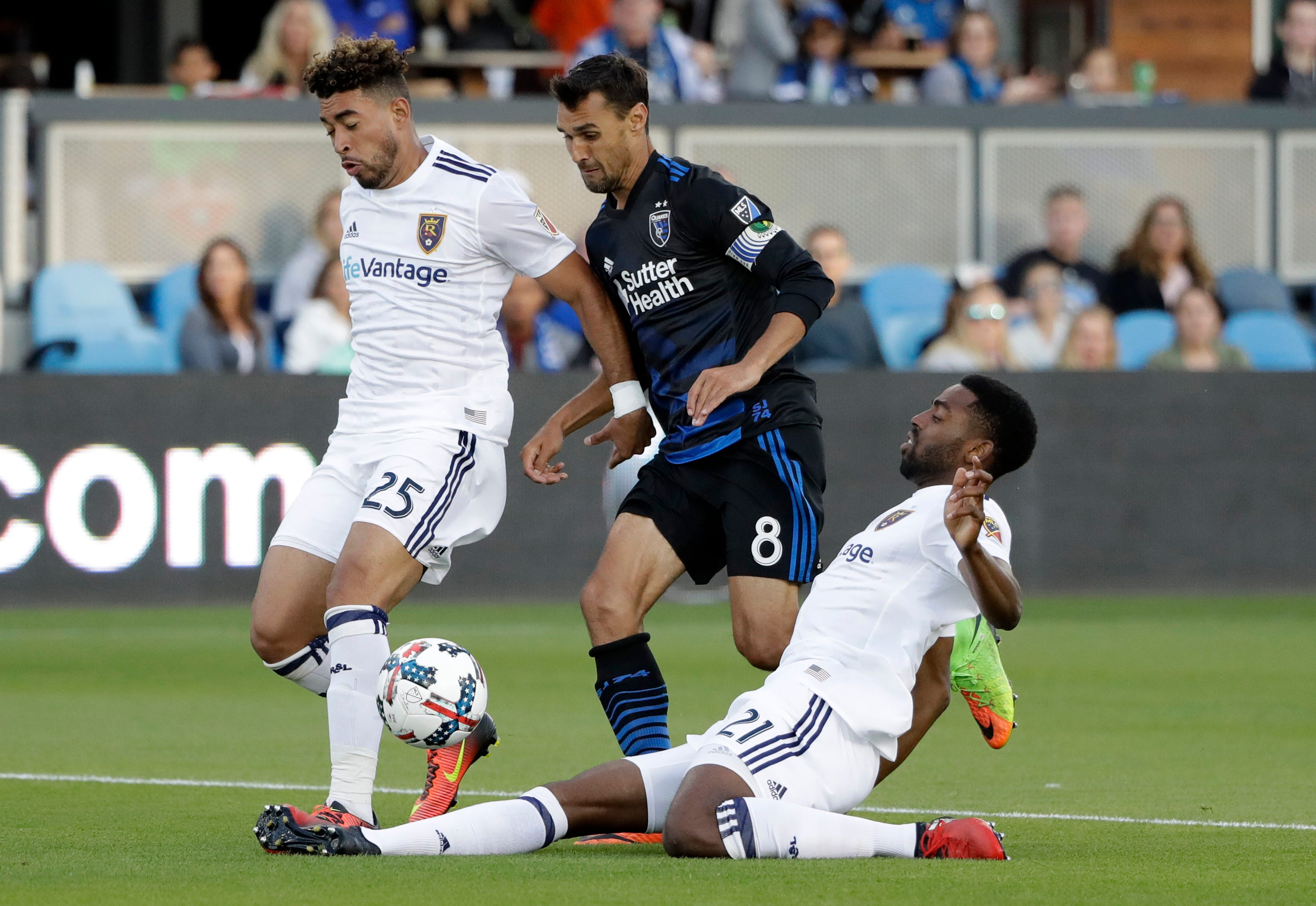 Hoesen leads Quakes past Real Salt Lake with goal, assist