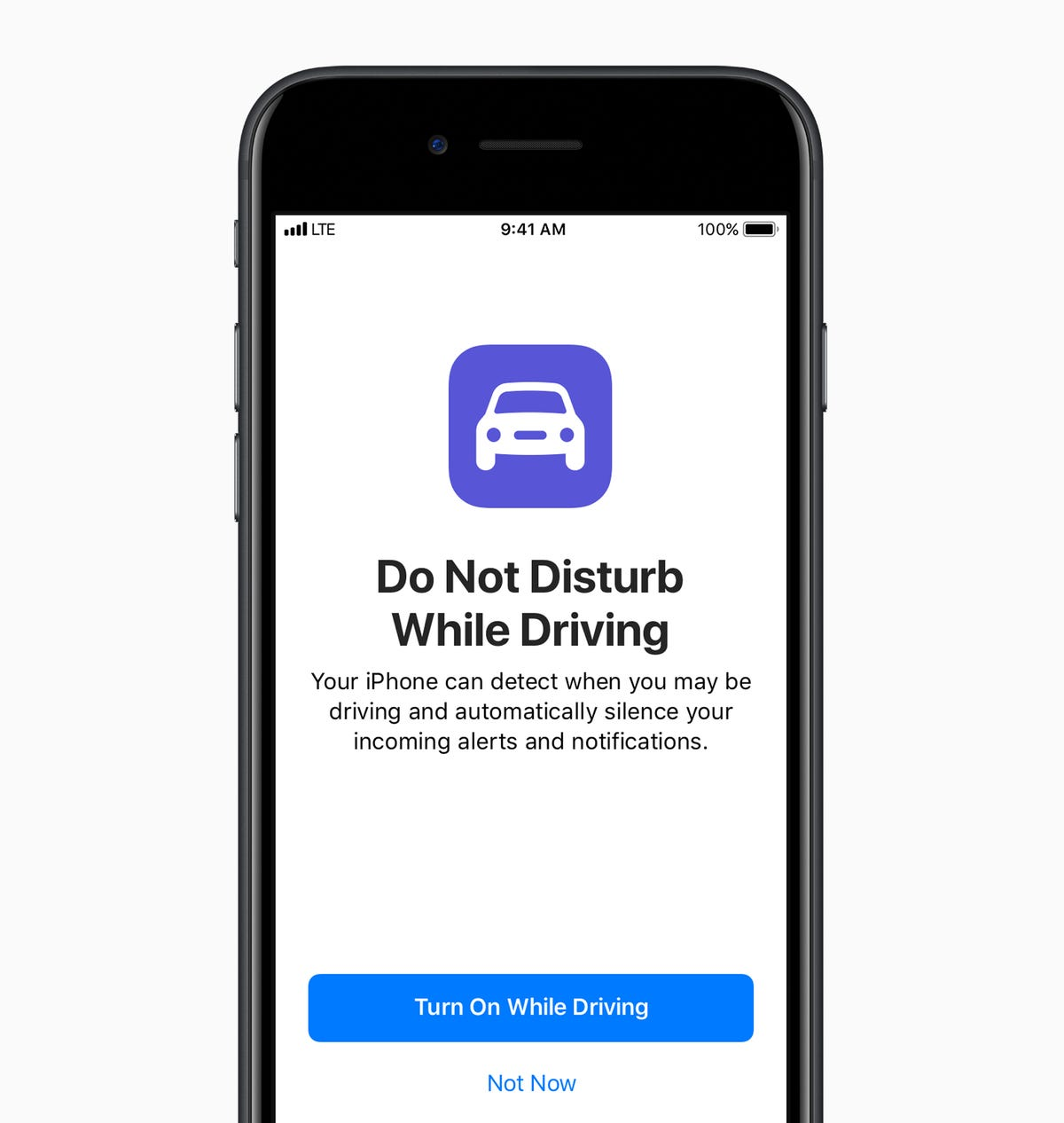 How to turn on 'do not disturb' while driving on iPhone and