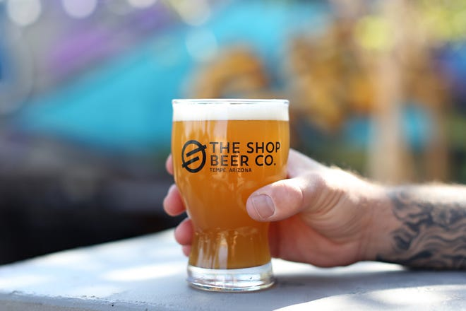 The Church Music Juicy IPA at The Shop Beer Co. in Tempe.