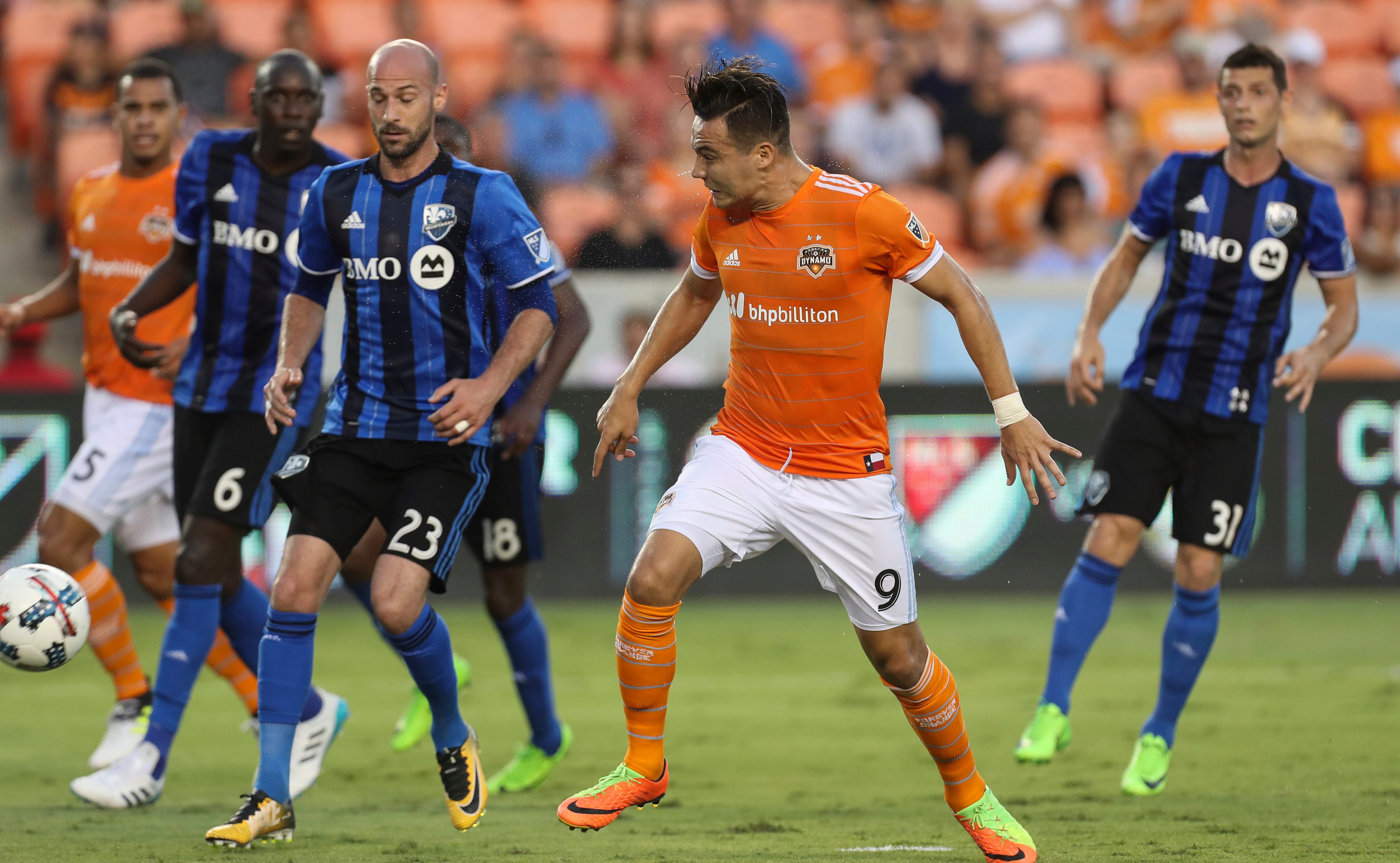 Wenger scores in 1st minute, Dynamo cruise by Impact 3-1