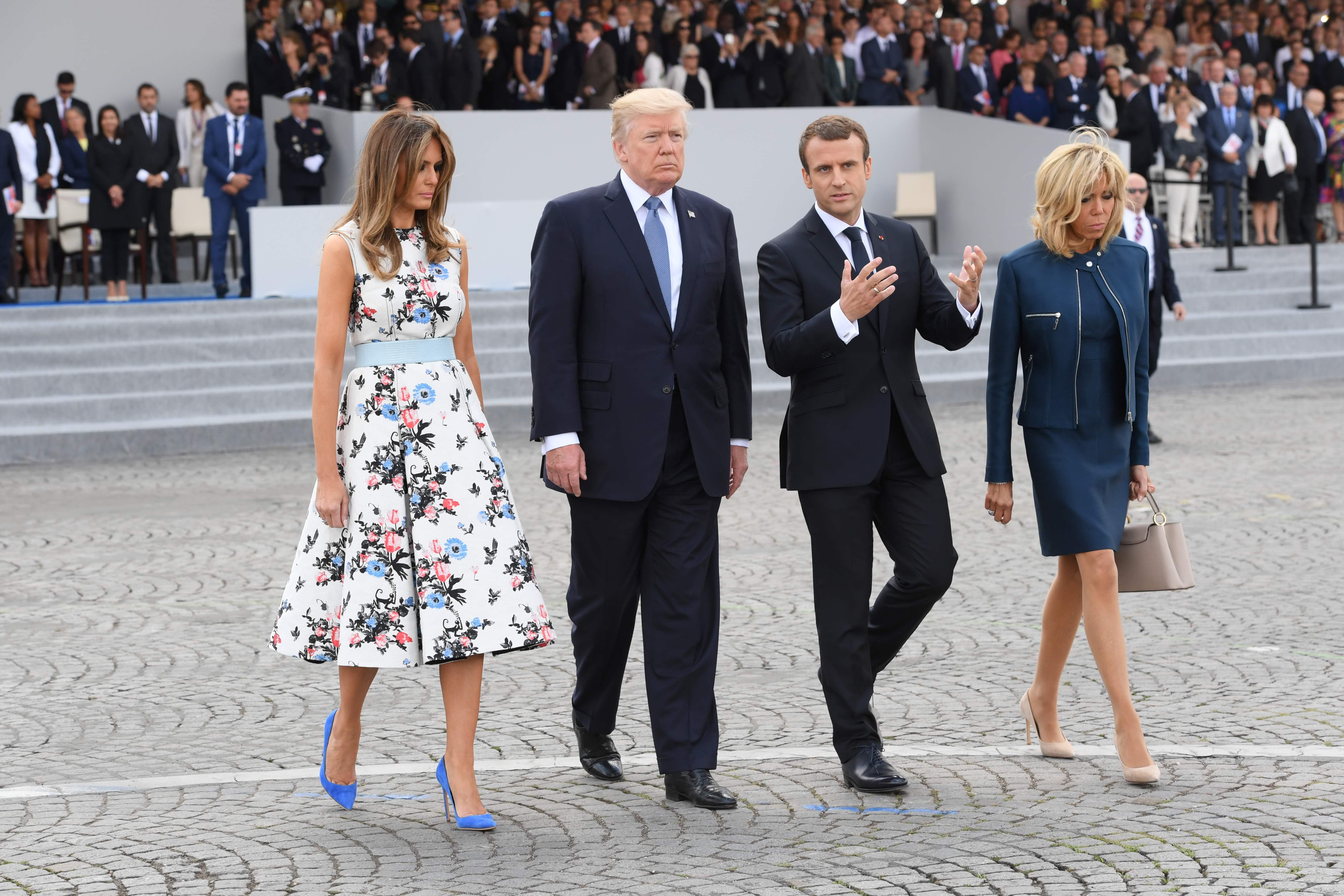 Melania Trump Goes Chic In Valentino For Bastille Day In Paris Kgw Com