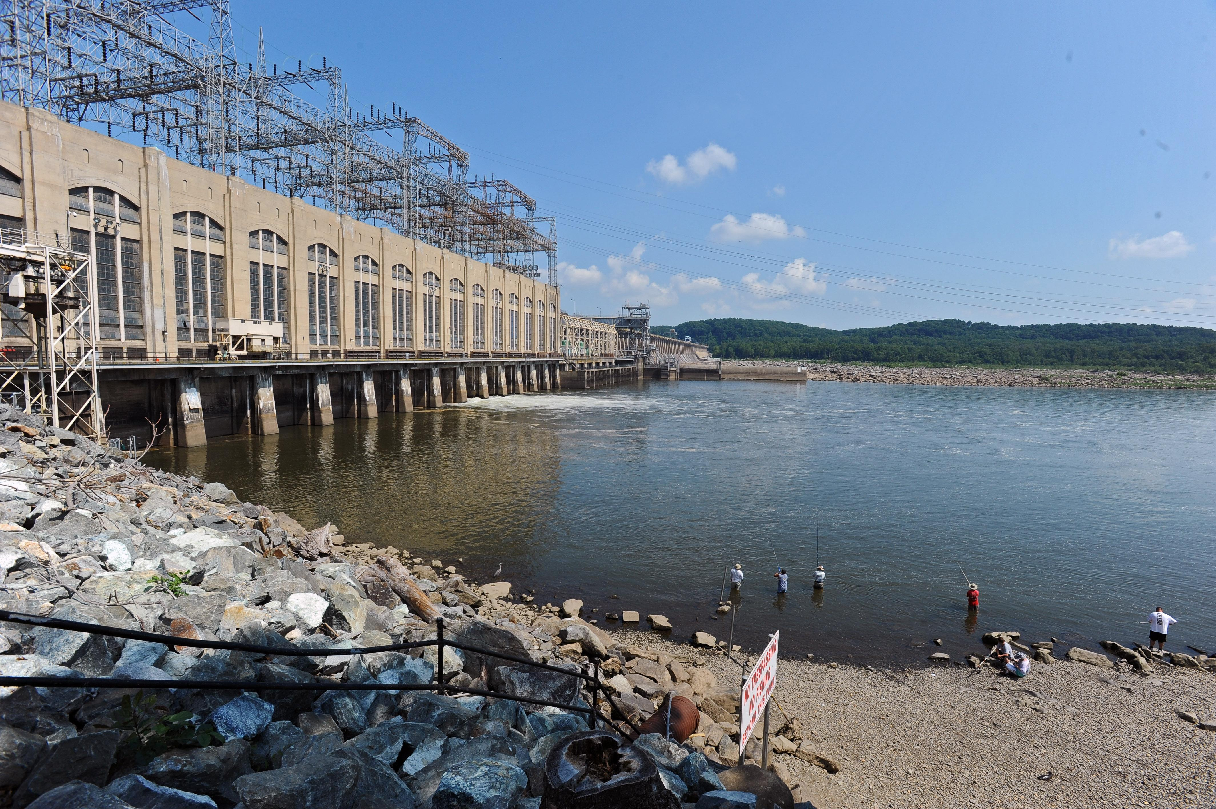 Scientists and environmental activists are concerned that silt and nutrient pollution attached to the sediment buildup at the Conowingo Dam, pictured, could undermine efforts to restore the Chesapeake Bay.