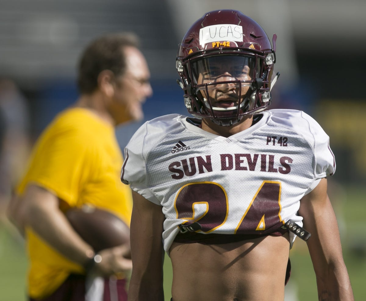 best service 81012 869f6 ASU football news: How ASU CB Chase Lucas' mom kept him from ...