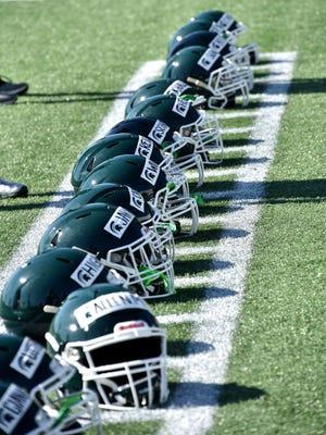 """MSU will wear """"BLM"""" stickers on its helmets Saturday."""