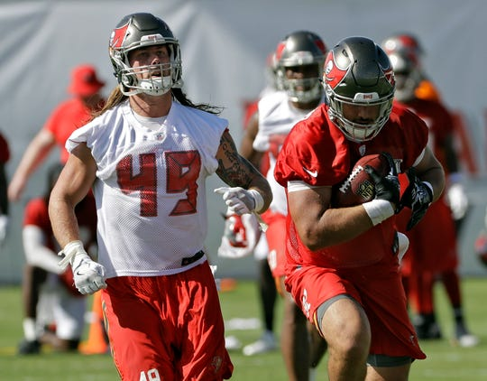 Riley Bullough was signed by Tampa Bay as an undrafted free agent following the 2017 draft. He was with the team until 2019, when he joined the practice squad for the Tennessee Titans. Today, Bullough is a realtor in Denver, Colorado.